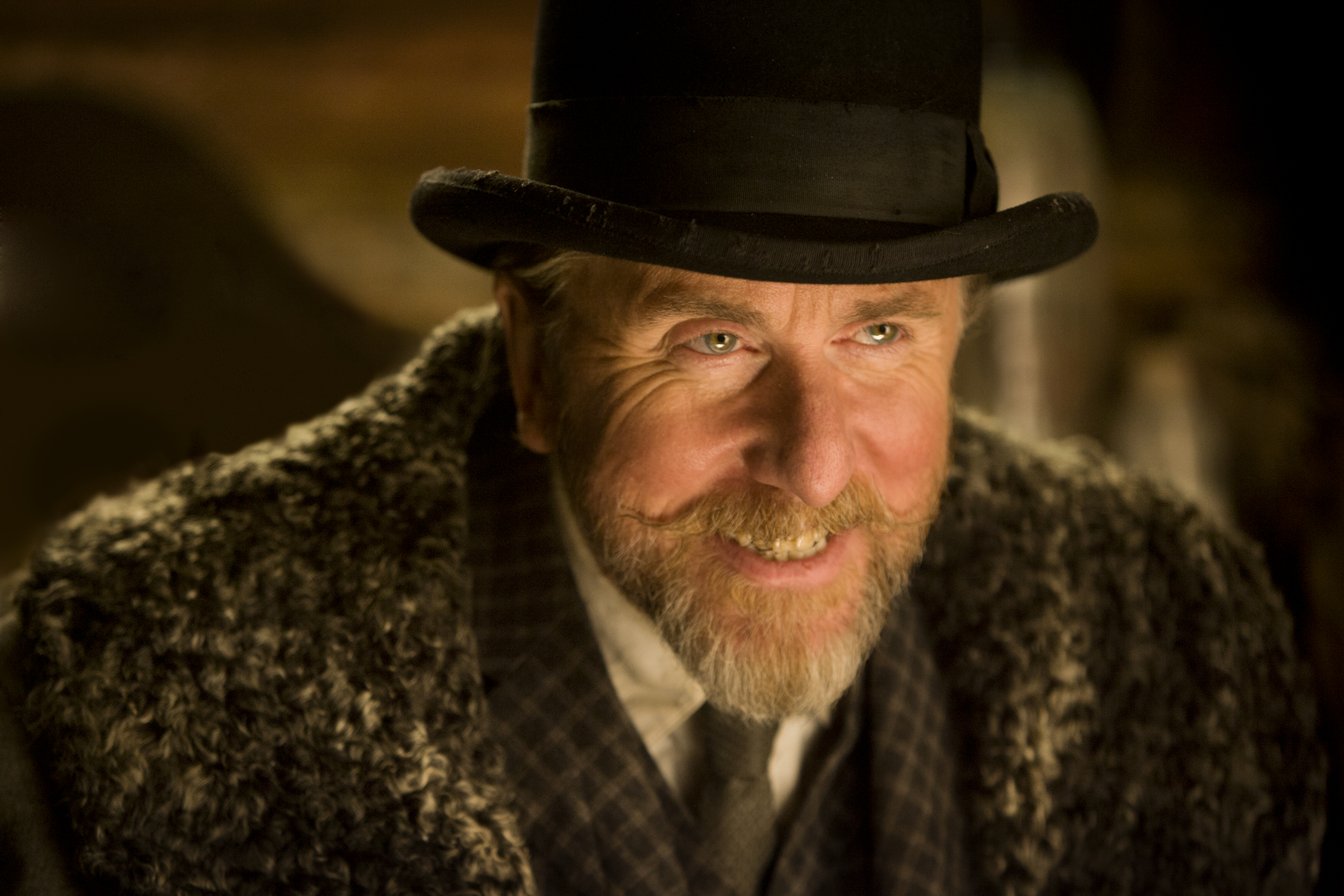 Tim Roth as Oswaldo Mobray in The Hateful Eight.