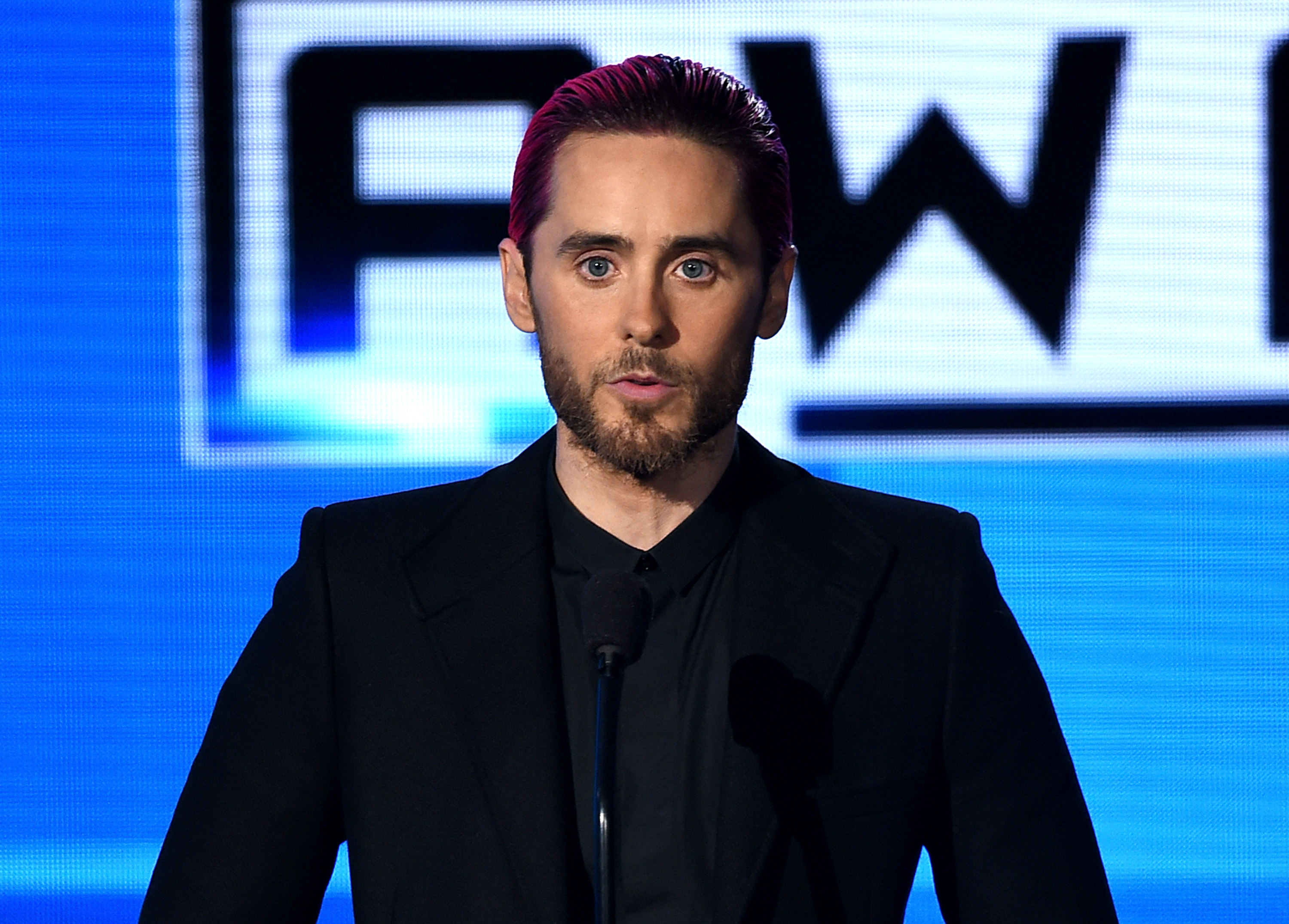 Jared Leto performs onstage during the 2015 American Music Awards at Microsoft Theater on November 22, 2015 in Los Angeles, California.