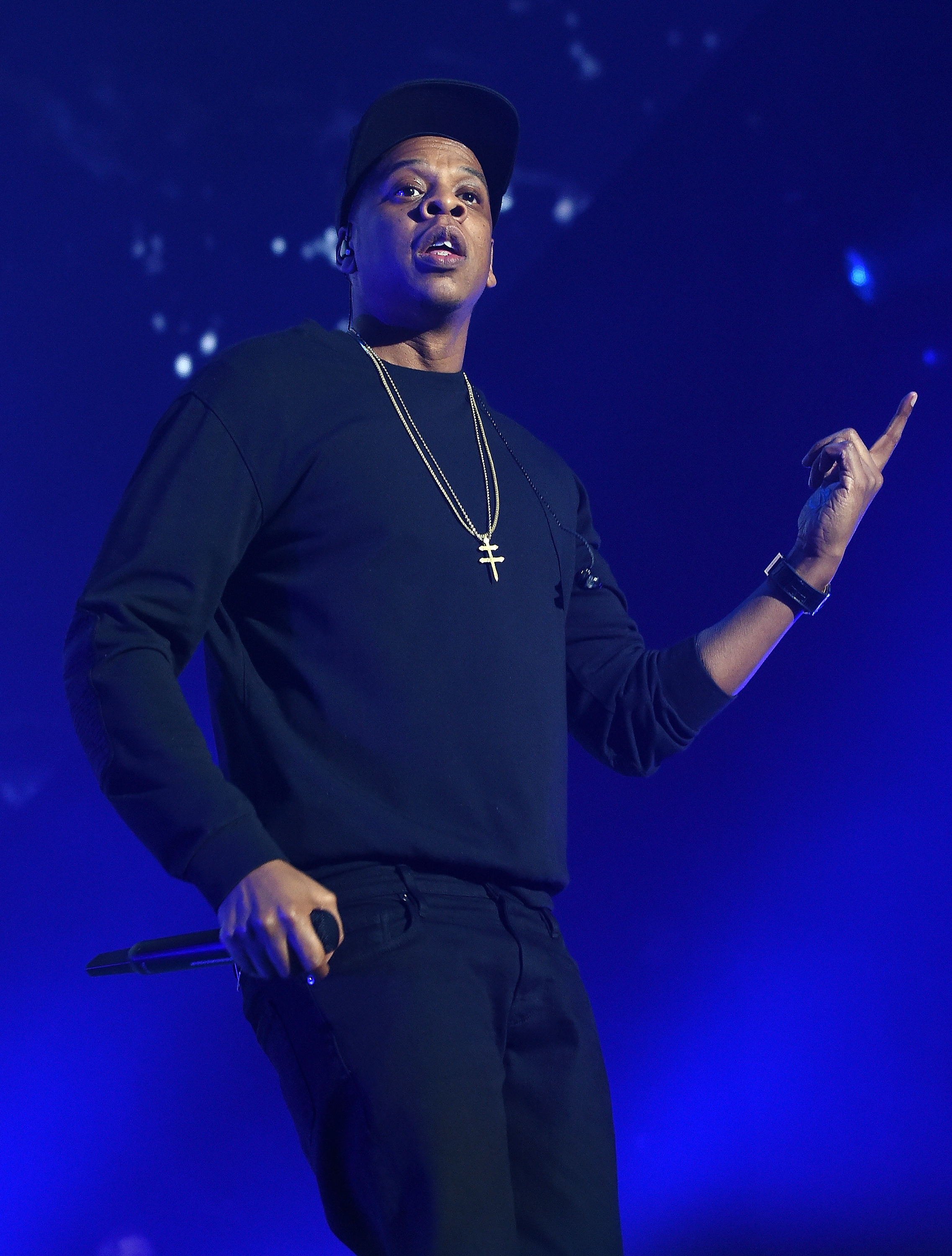 Jay-Z performs onstage during TIDAL X: 1020 Amplified by HTC in New York City on Oct. 20, 2015.