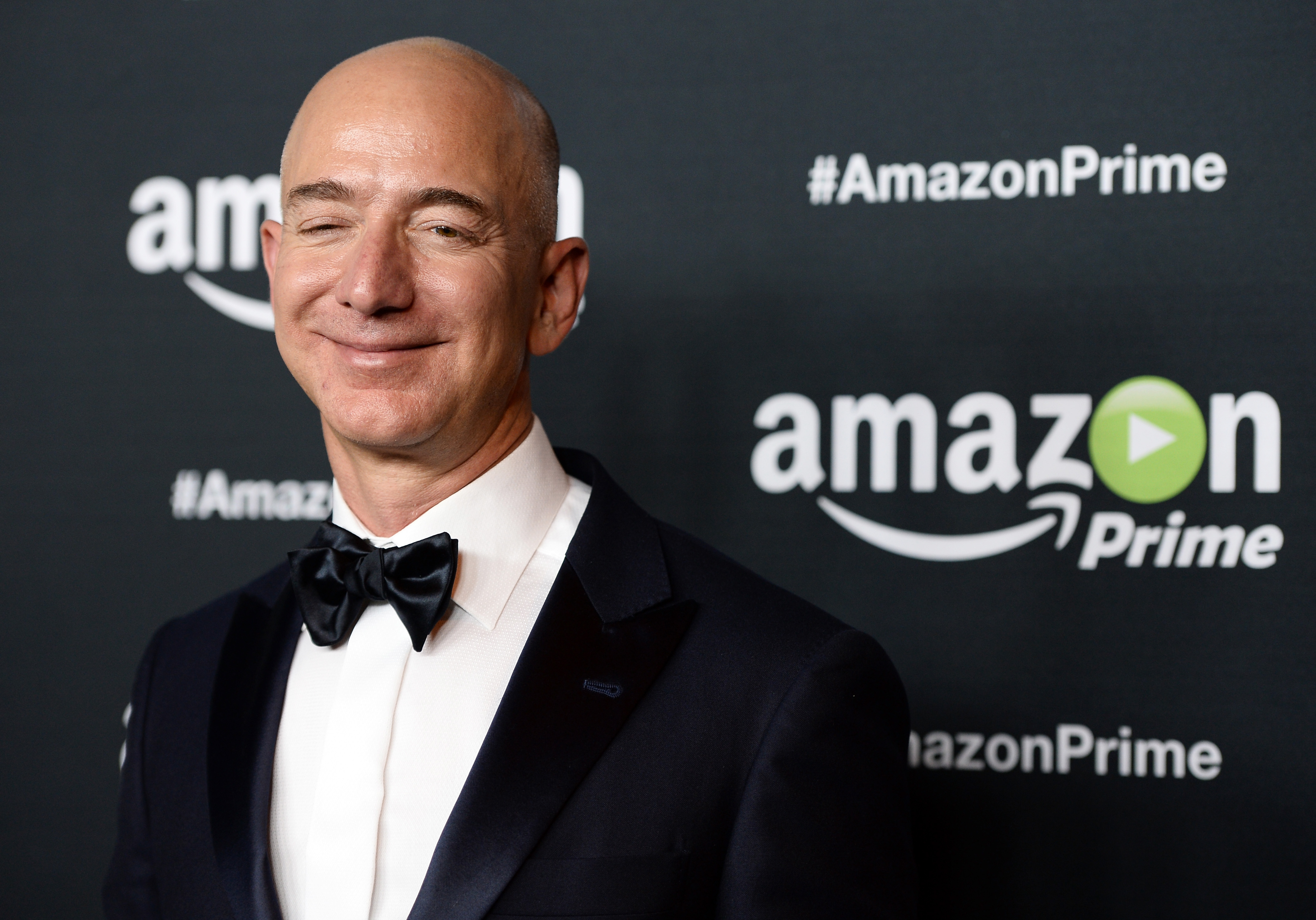Founder and CEO of Amazon.com Jeff Bezos arrives at Amazon Video's 67th Primetime Emmy Celebration at The Standard Hotel on Sep. 20, 2015 in Los Angeles, California.