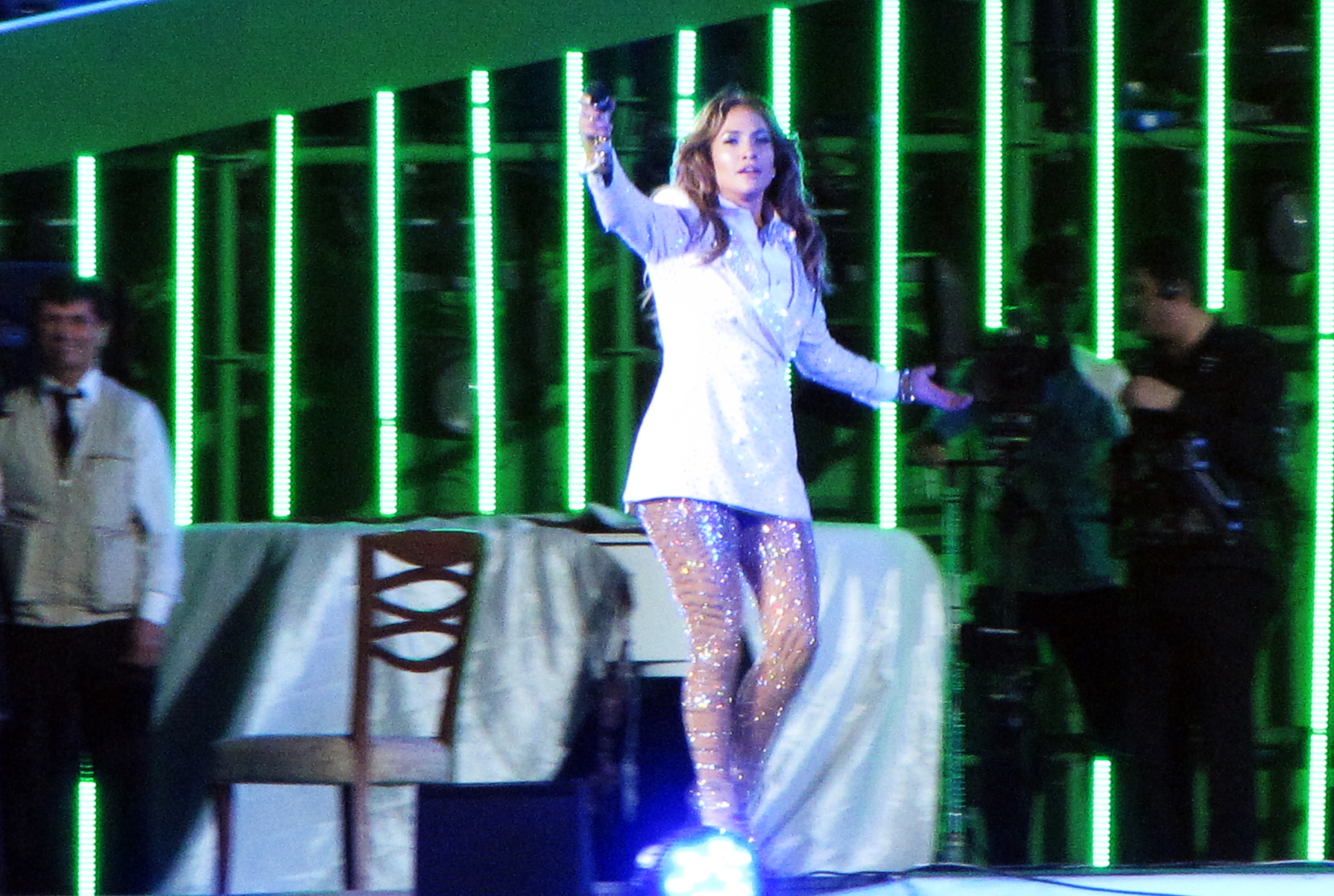 Jennifer Lopez performs at Avaza, near the city of Turkmenbashi, Turkmenistan on June 29, 2013.