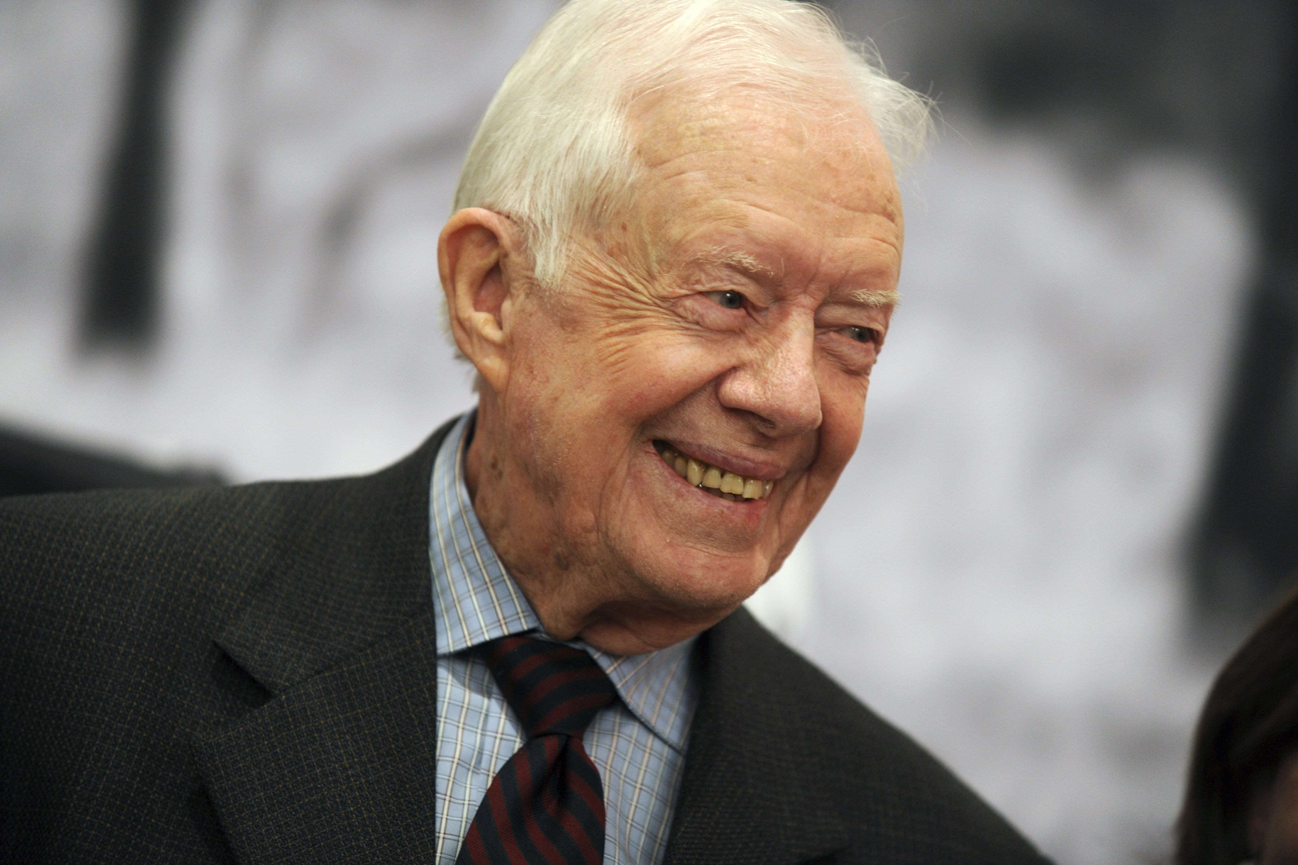 Jimmy Carter at American Museum of Natural History on Jan. 12, 2015 in New York City.