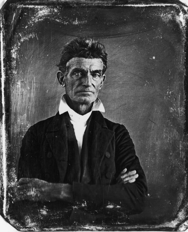 Portrait of John Brown, circa 1856.