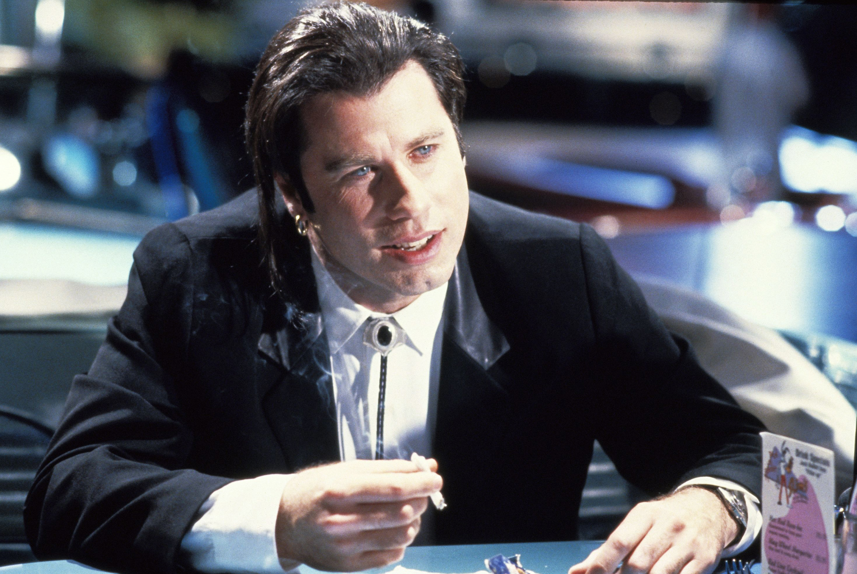 John Travolta as Vincent Vega in Pulp Fiction, 1994.