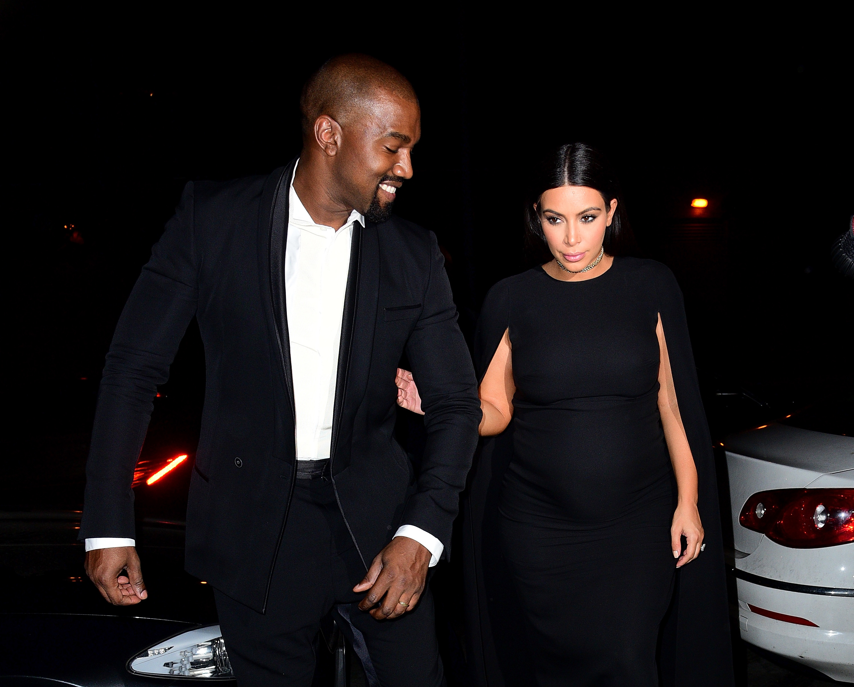 Kanye West and Kim Kardashian on Sept. 7, 2015 in New York City.