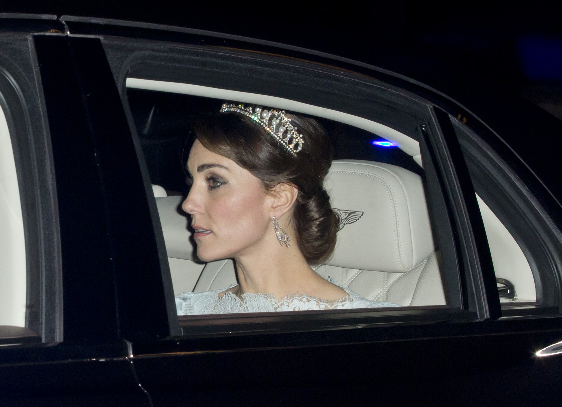 Kate Middleton attends the annual Diplomatic Reception at Buckingham Palace on Dec. 8, 2015 in London.