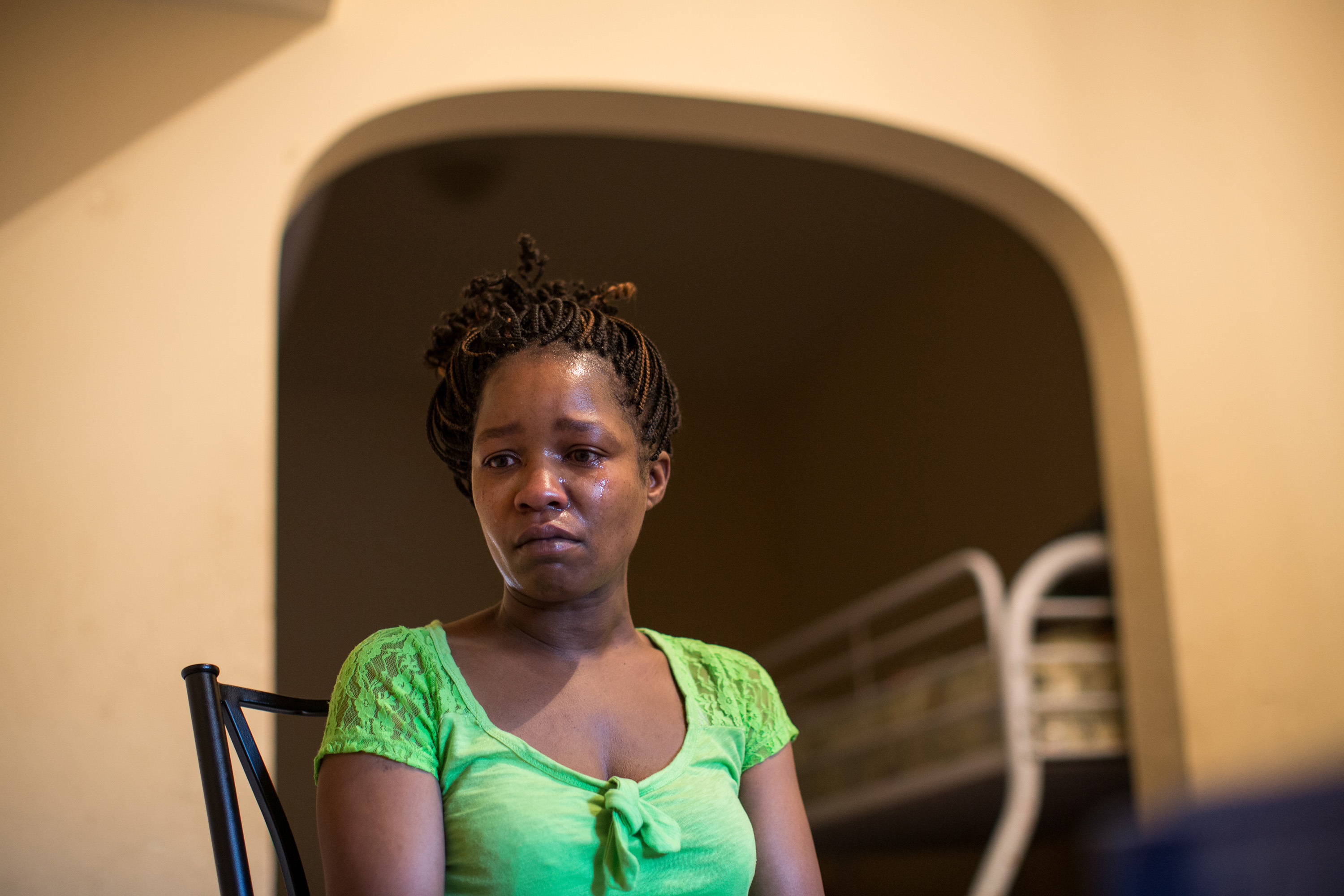 Linda Chatman talks about her son Cedrick at her apartment on Aug. 28, 2014 in Chicago, IL.