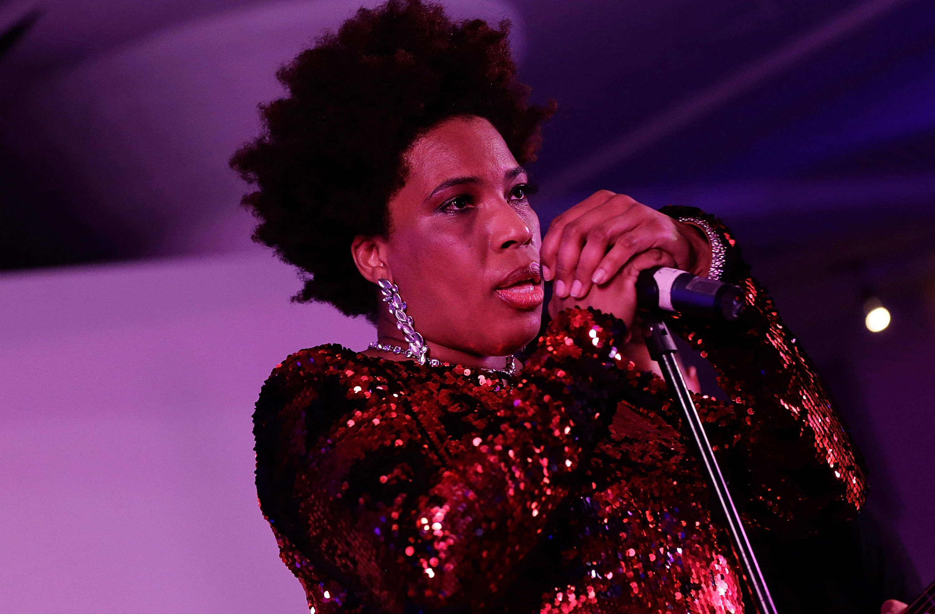 Macy Gray performs at the 24th Annual Jazz Loft Party at Hudson Studios on May 16, 2015 in New York City.