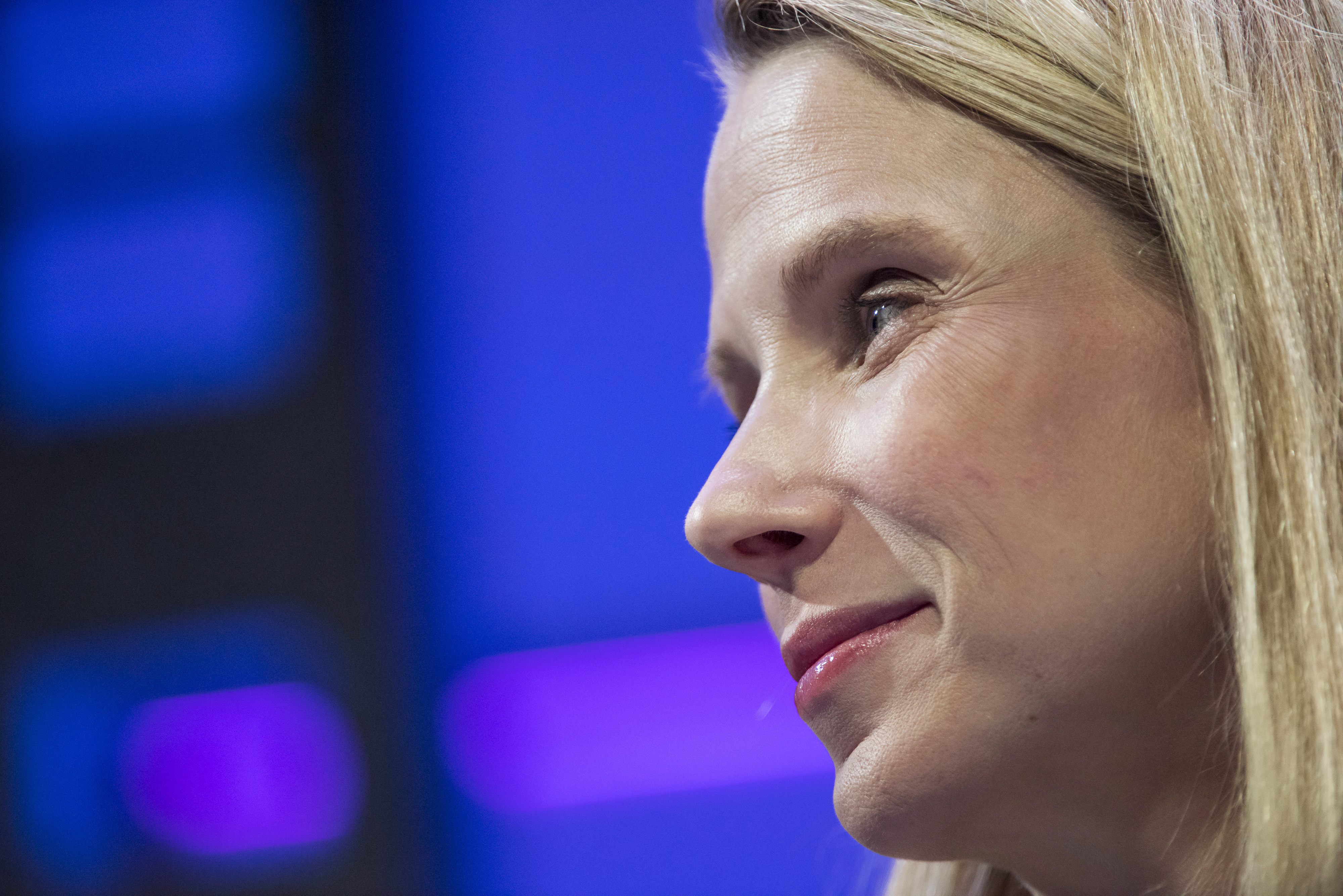 Marissa Mayer listens during the 2015 Fortune Global Forum in San Francisco, CA on Nov. 3, 2015.