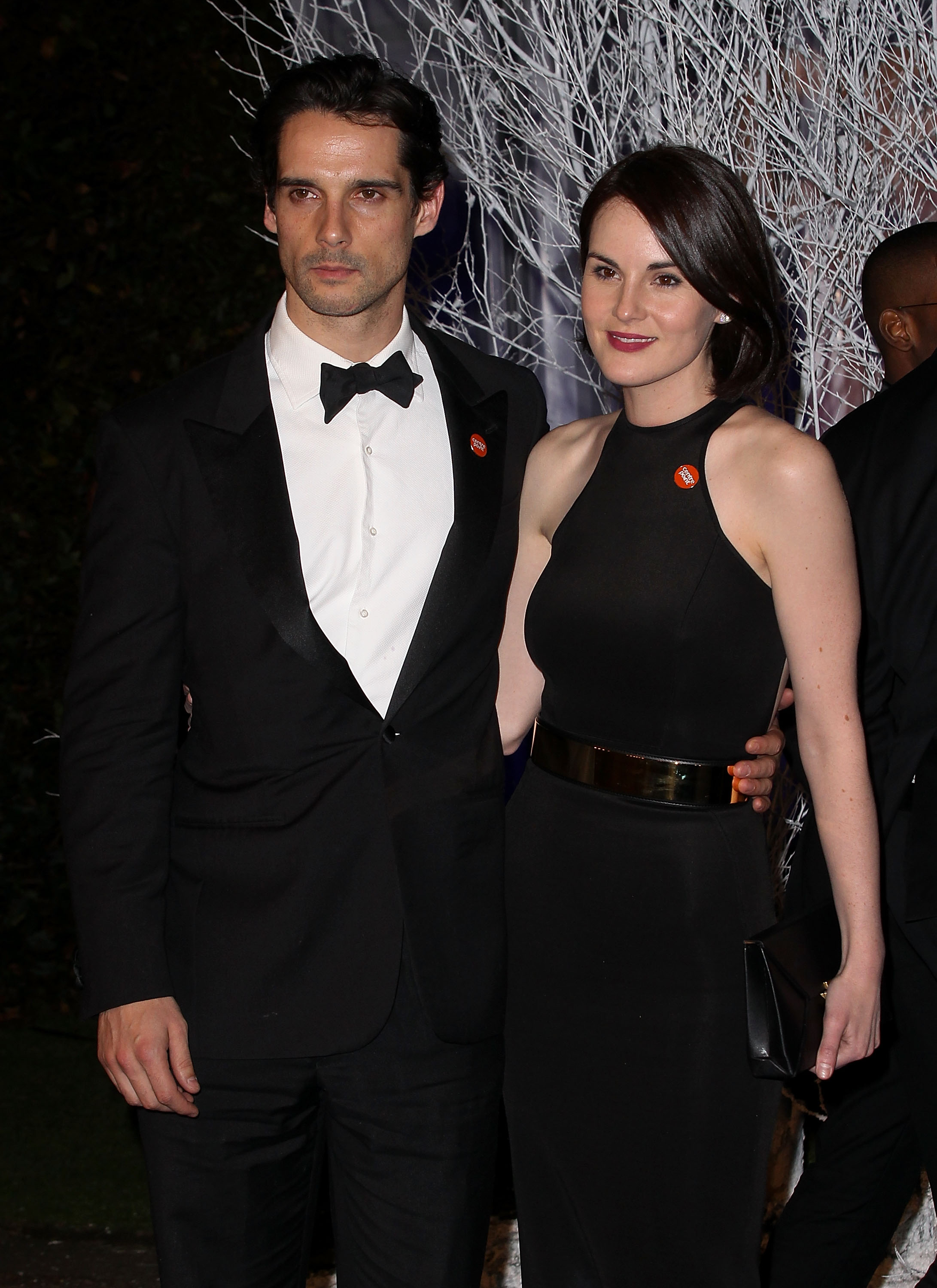 Michelle Dockery and John Dineen attend the Winter Whites Gala in aid of Centrepoint at Kensington Palace on Nov. 26, 2013 in London, England.