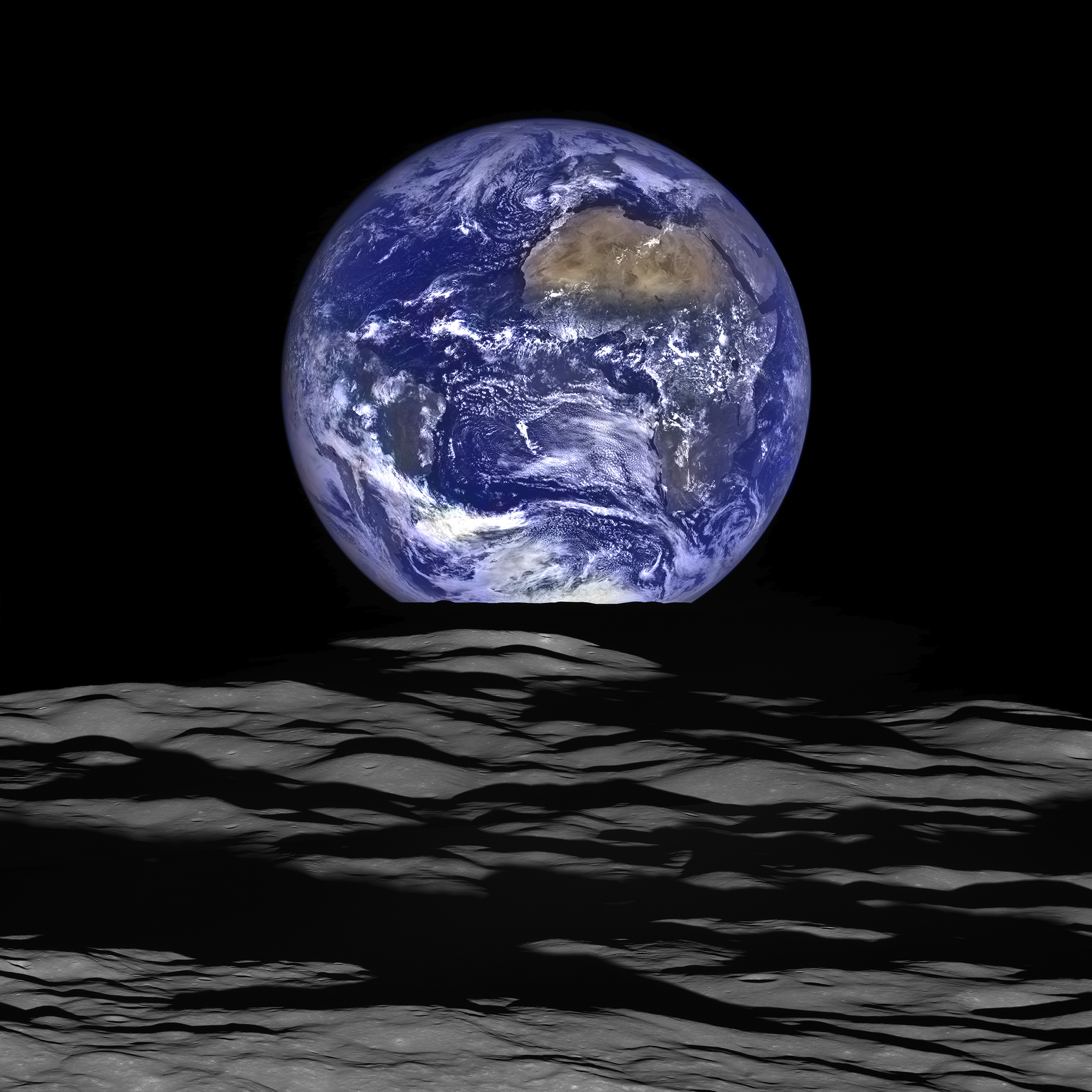 NASA's Lunar Reconnaissance Orbiter (LRO) recently captured a unique view of Earth from the spacecraft's vantage point in orbit around the moon.