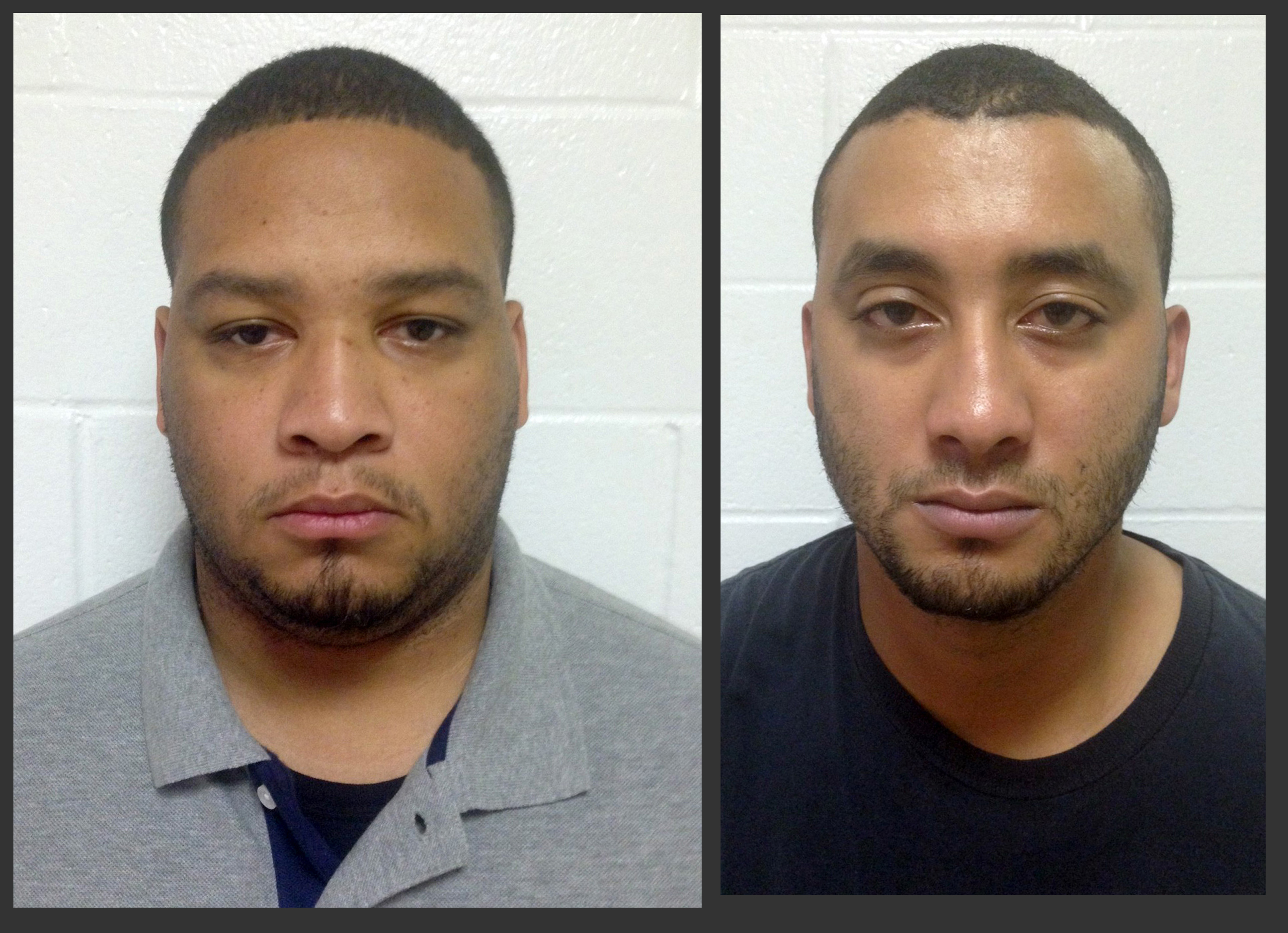 Marksville City Marshal Derrick Stafford, left, and Marksville City Marshal Norris Greenhouse Jr. were arrested on charges of second-degree murder and attempted second-degree murder in the Nov. 3, 2015 in Marksville, La.
