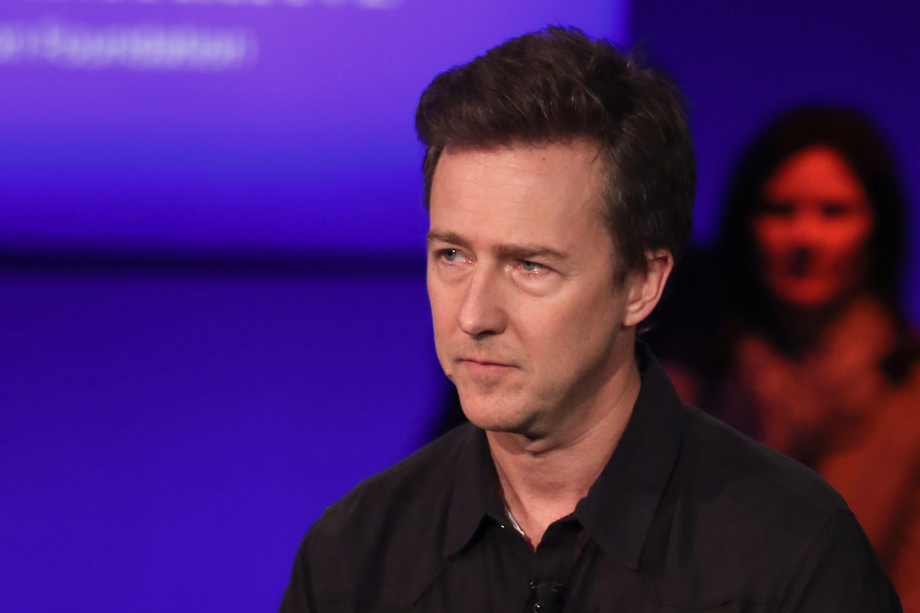 Edward Norton in a panel discussion at the Clinton Global Initiative Annual Meeting, in New York City on September 29, 2015.