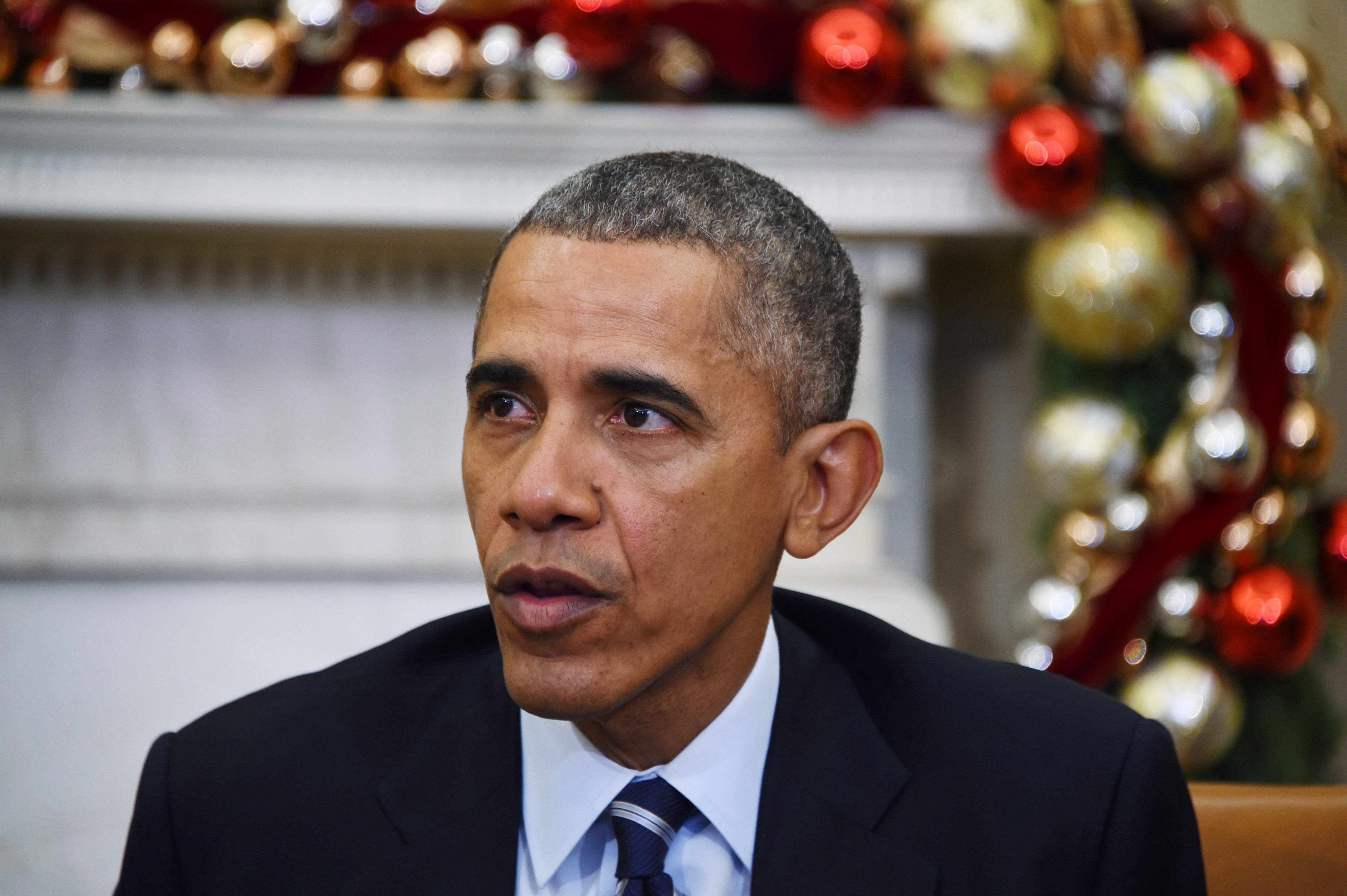 US President Barack Obama speaks about US gun violence at the White House on Dec. 3,