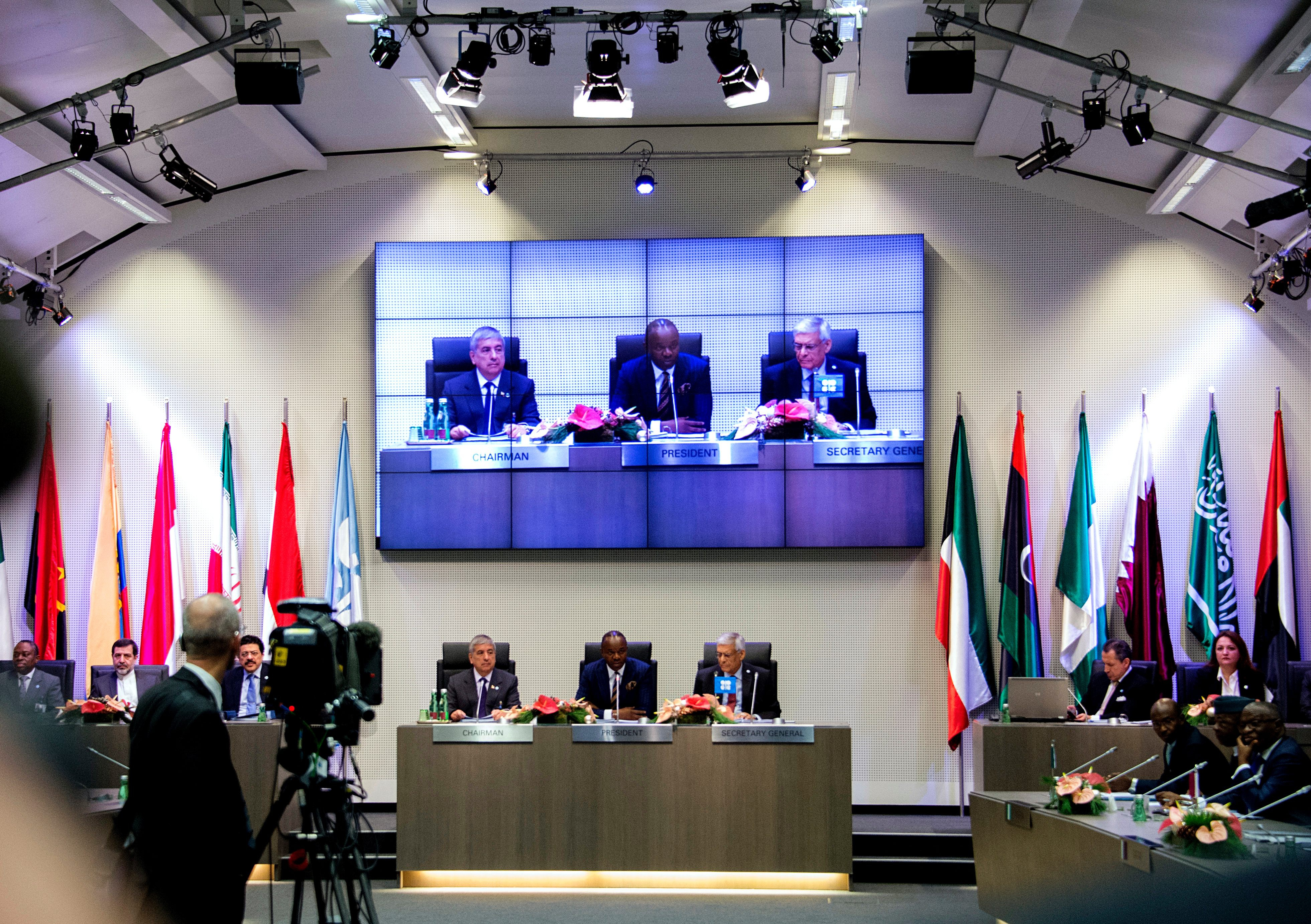 The 168th conference of the Organization of the Petroleum Exporting Countries (OPEC) in Vienna on Dec. 4, 2015.