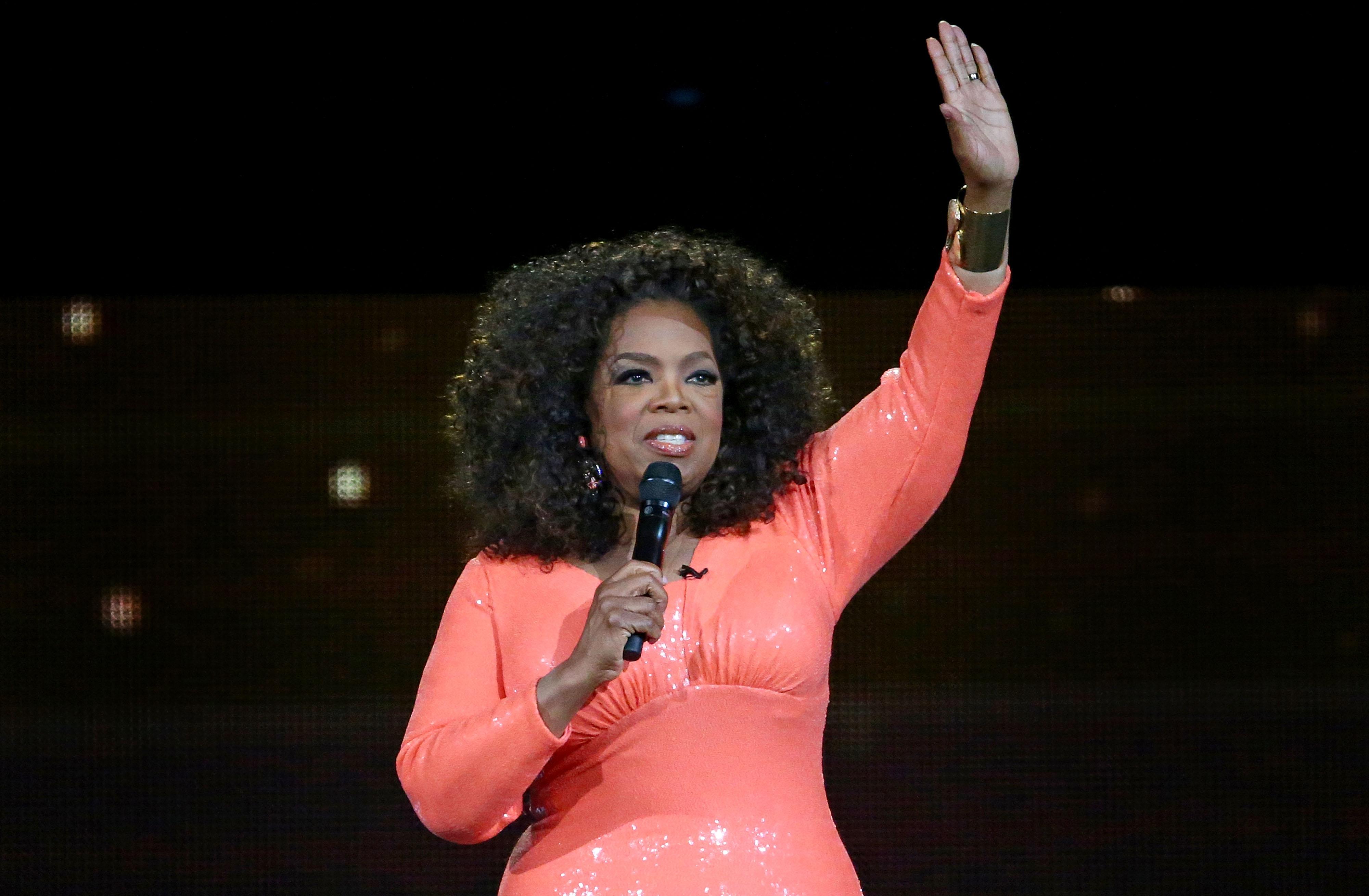Oprah Winfrey at An Evening With Oprah tour in Melbourne, Australia on Dec. 2, 2015.