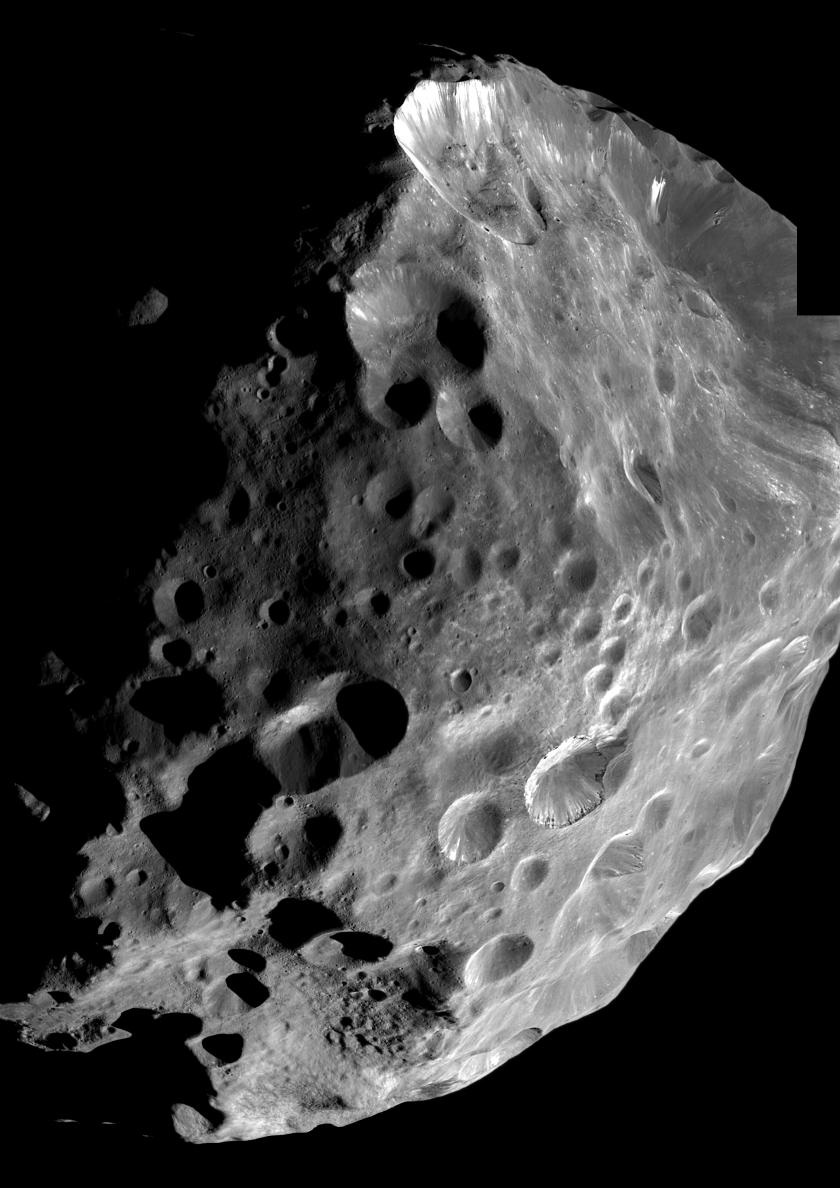 Saturn's 200-km moon Phoebe, seems likely to be a Centaur that was captured by that planet's gravity at some time in the past. Until spacecraft are sent to visit other Centaurs, our best idea of what they look like comes from images like this one, obtained by the Cassini space probe orbiting Saturn.
