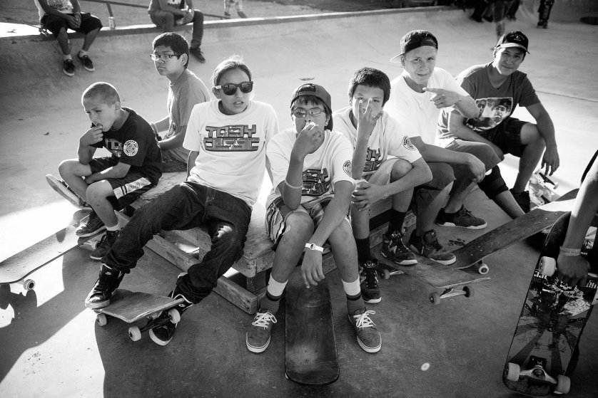 """My favorite memory was just working with the very young kids that just started skateboarding, "" says photographer Atiba Jefferson, ""It just lights up their face, lights up their lives and it's great to see that just a little toy can bring so much happiness when they're surrounded by so much craziness.'"