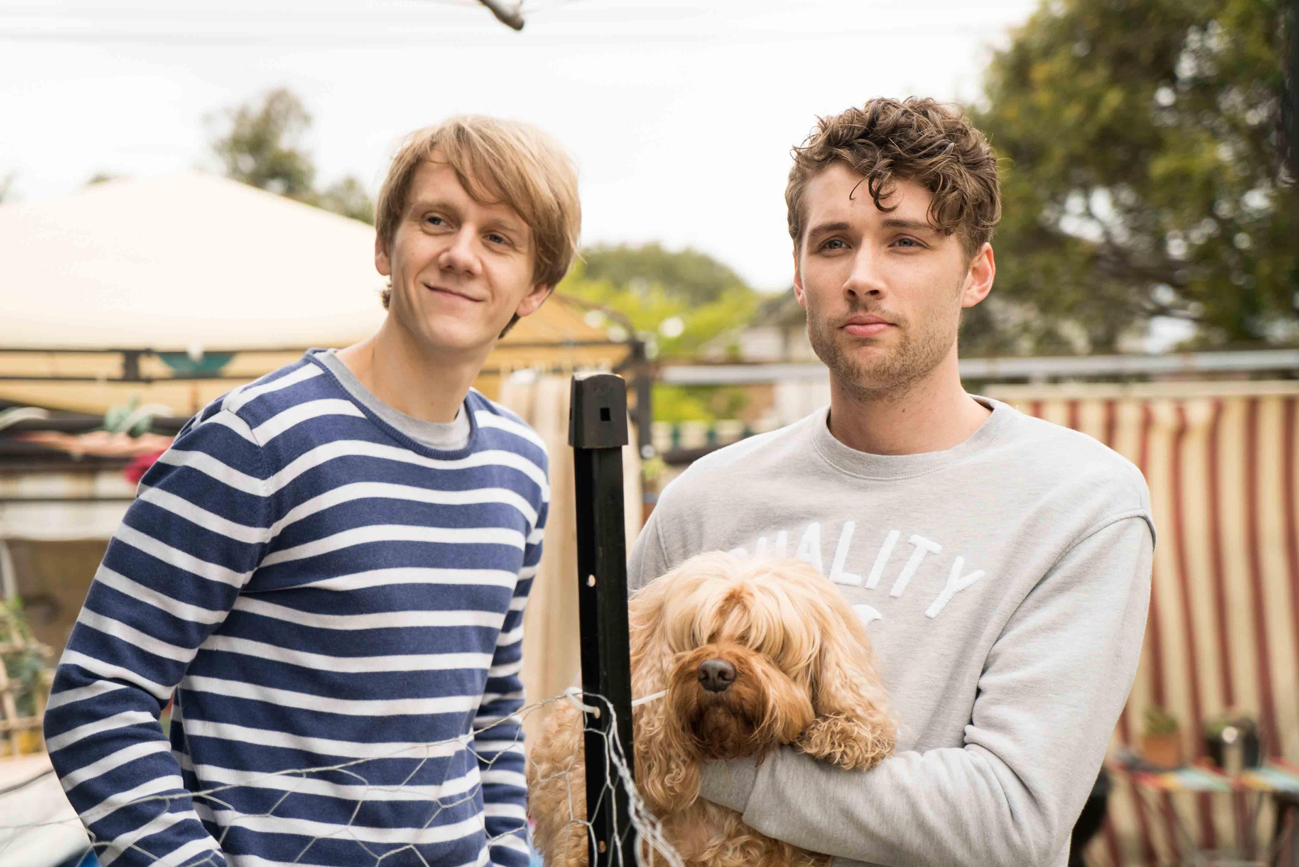 Josh (Josh Thomas) and Arnold (Keegan Joyce) in Please Like Me's third season.