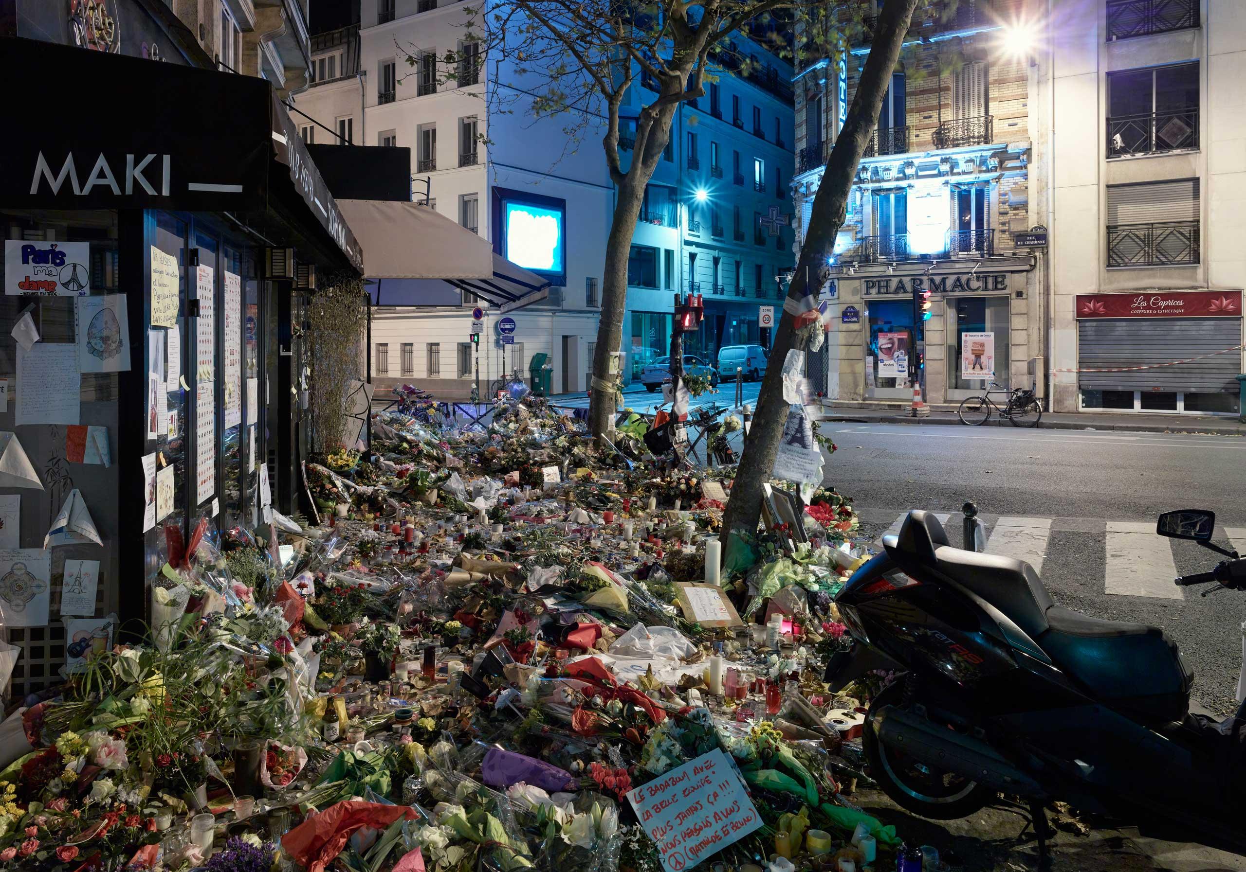 The New Yorker Photo Booth: Paris Overnight                               La Belle Équipe restaurant, Rue de Charonne, Paris, Nov. 18, 2015.