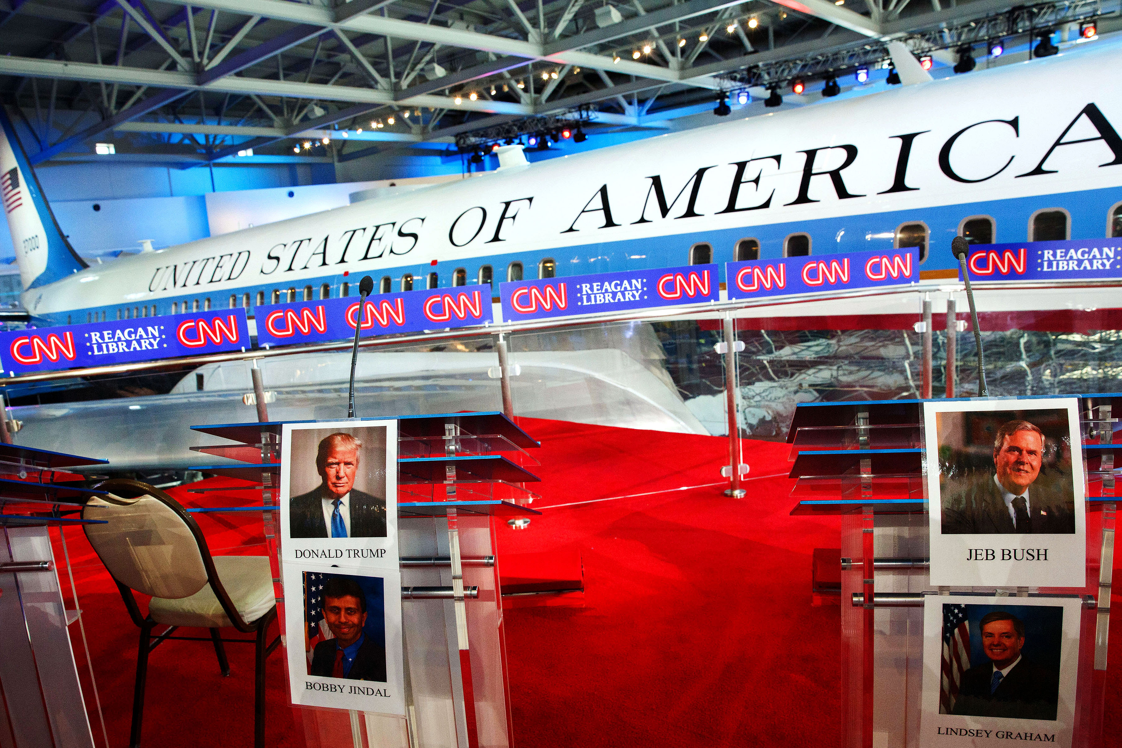 CNN And Reagan Library Host GOP Presidential Primary Candidates Debate