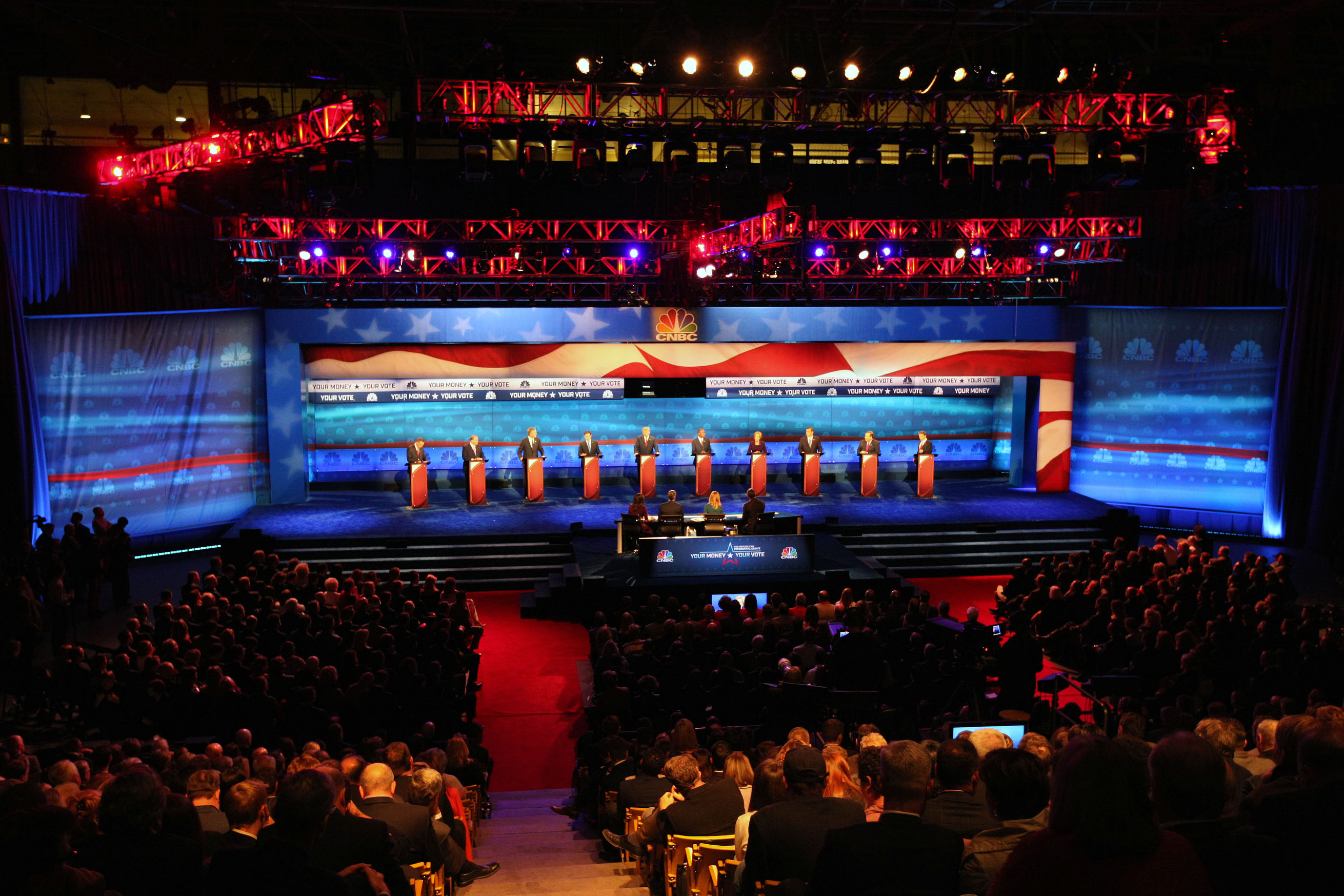 The Republican presidential debate at the University of Colorado Boulder in Boulder, Colo. on Oct. 28, 2015.