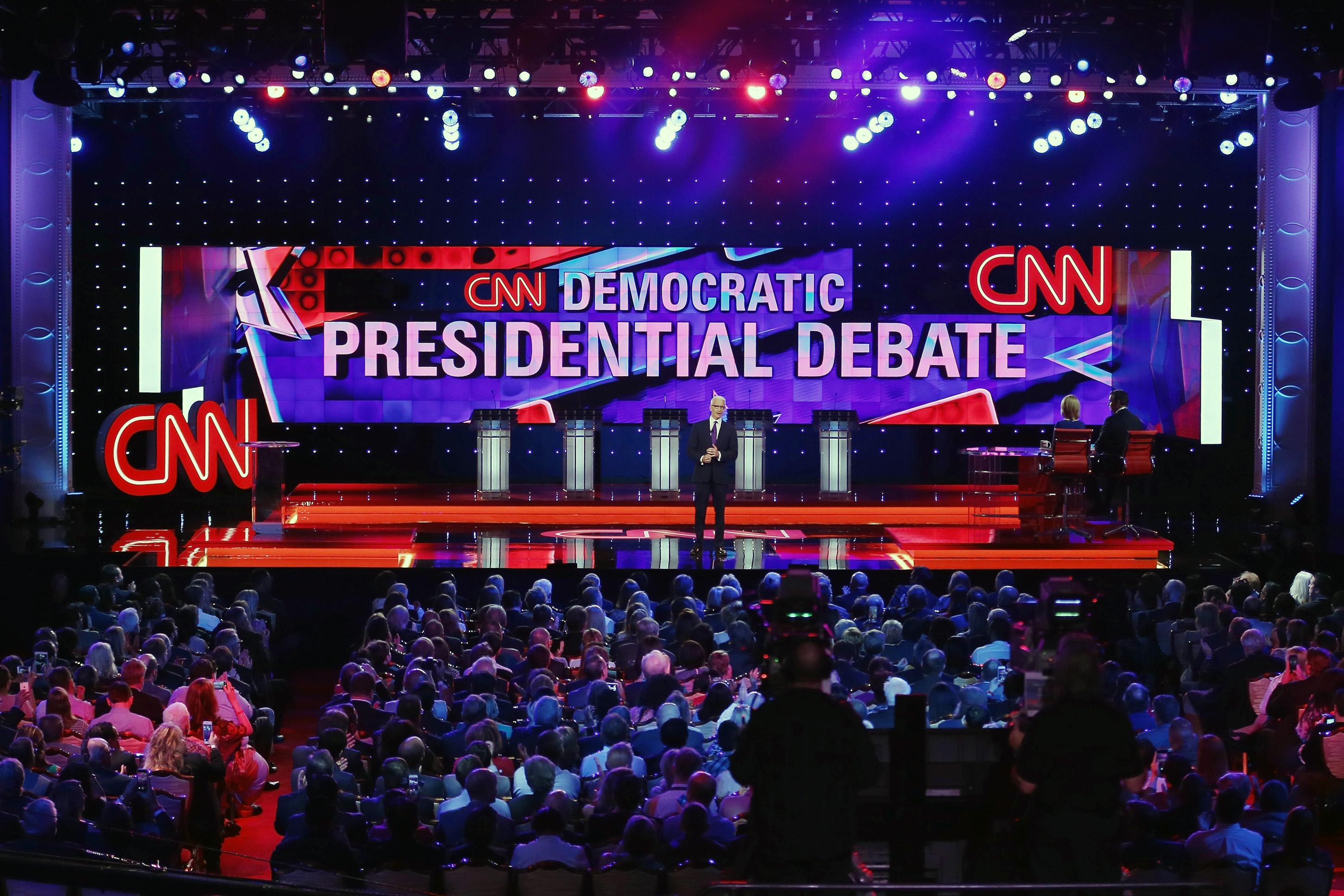 The Democratic presidential debate sponsored by CNN and Facebook at Wynn Las Vegas on Oct. 13, 2015 in Las Vegas.