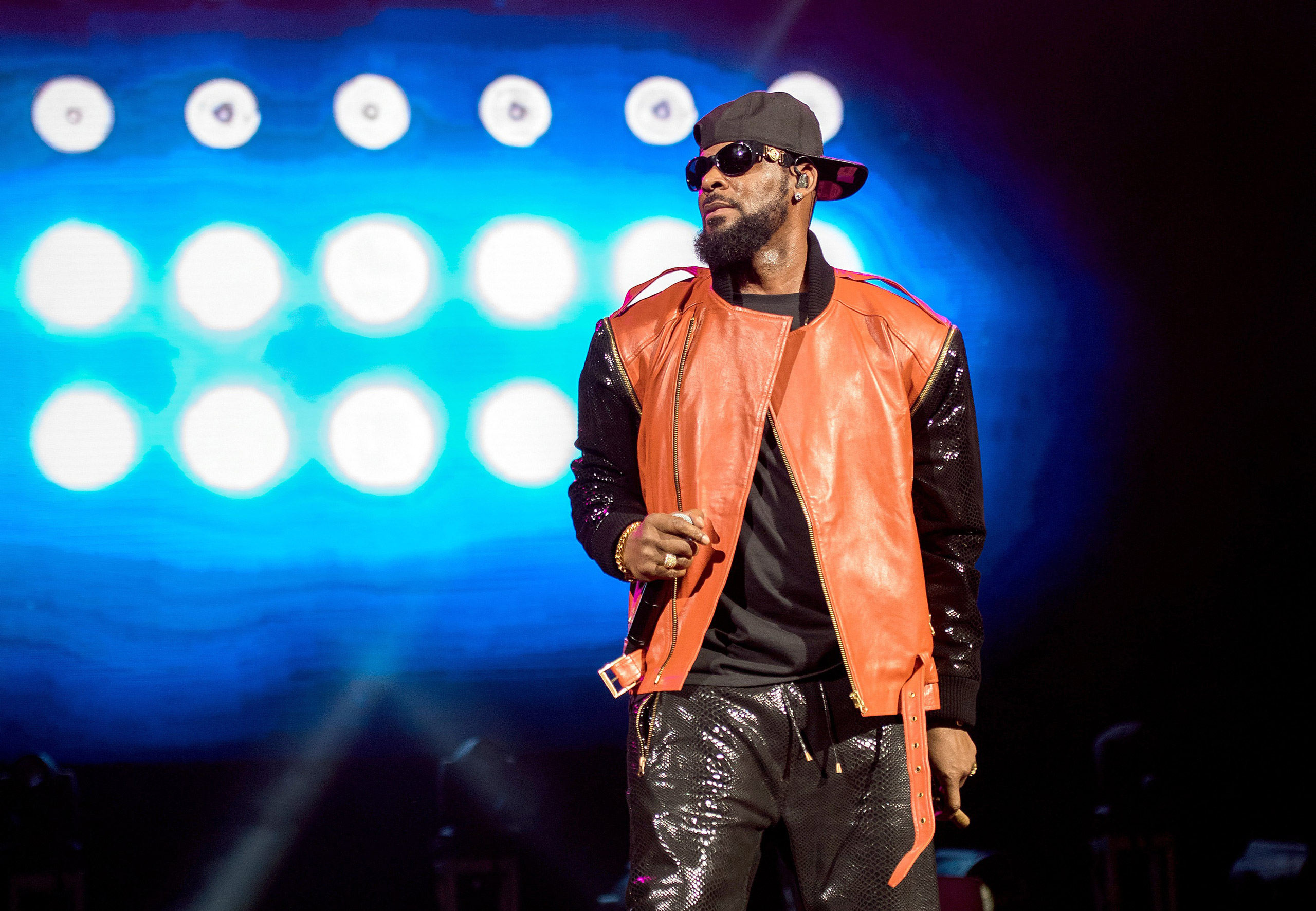 R. Kelly performs in concert at Barclays Center in New York on Sept. 25, 2015.