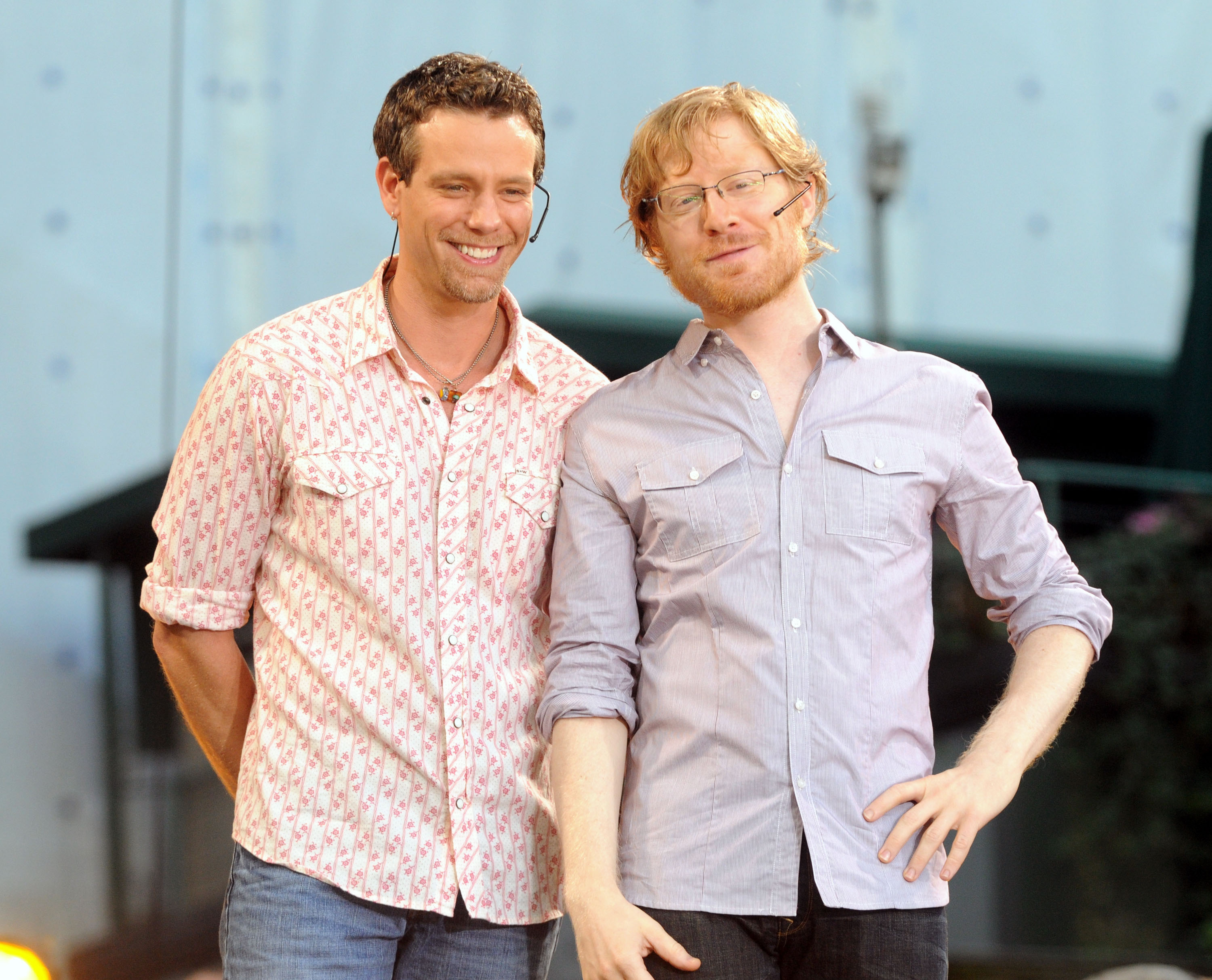 Actors Adam Pascal and Anthony Rapp from  Rent  in New York City on 2008.