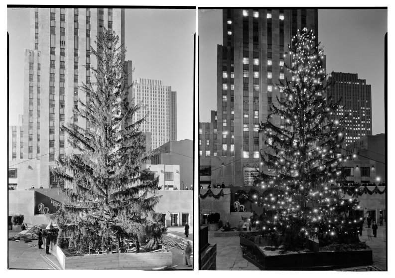 Rockefeller Center Christmas Tree, 1934.