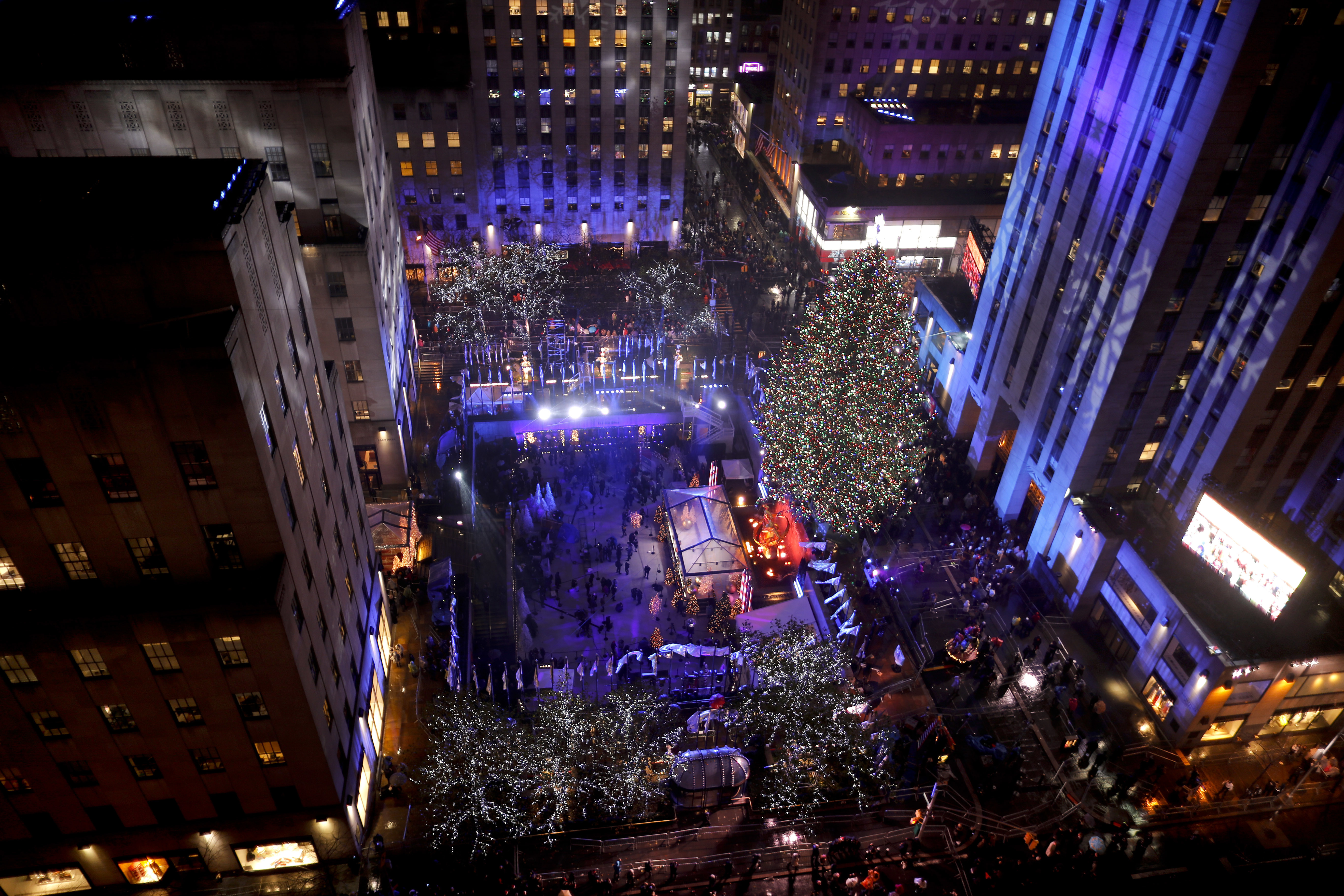 2016 The Rockefeller Center Christmas tree during the 84th lighting ceremony.