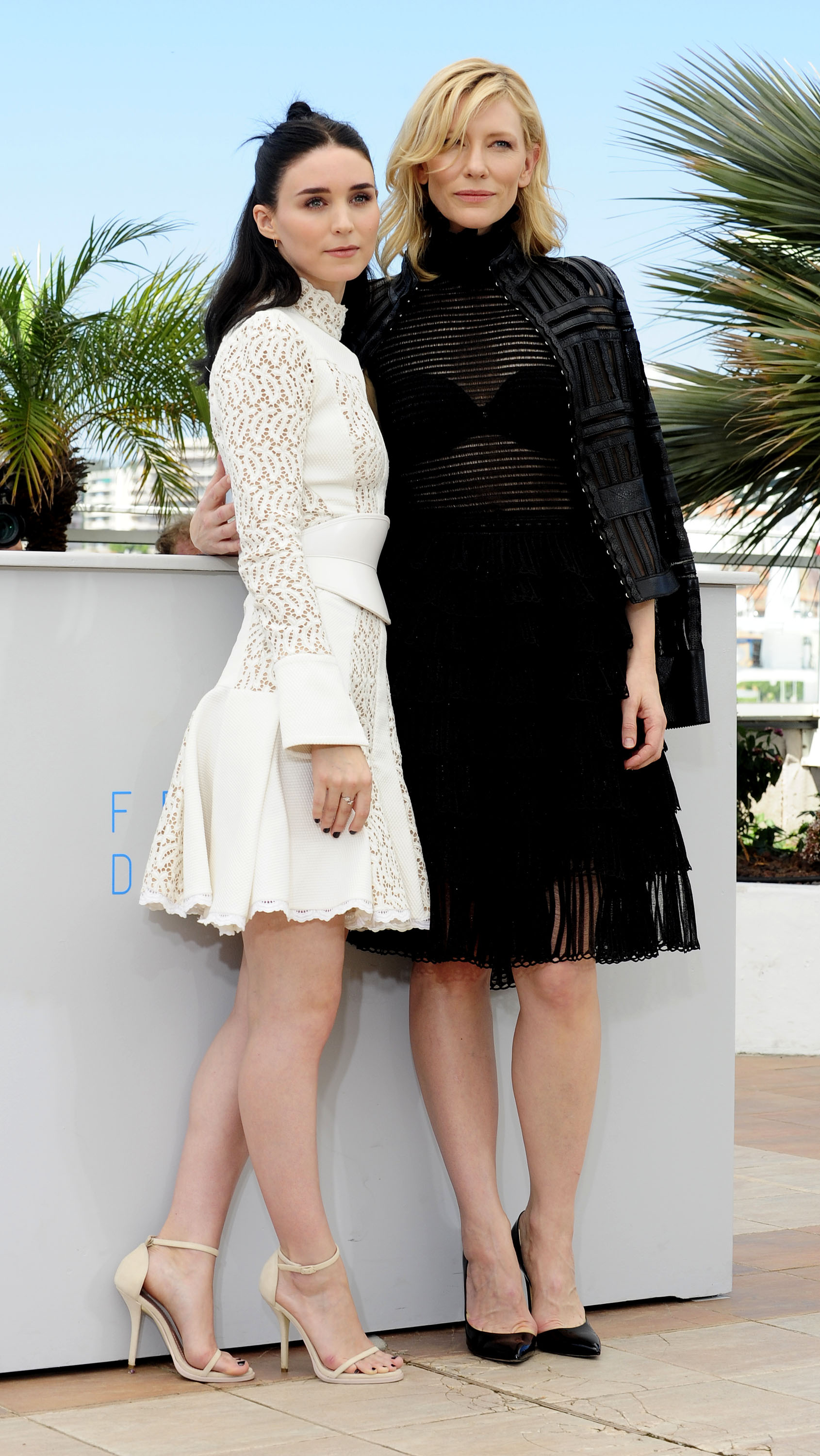 Cate Blanchett and Rooney Mara during the Cannes Film Festival on May 17, 2015 in Cannes, France.