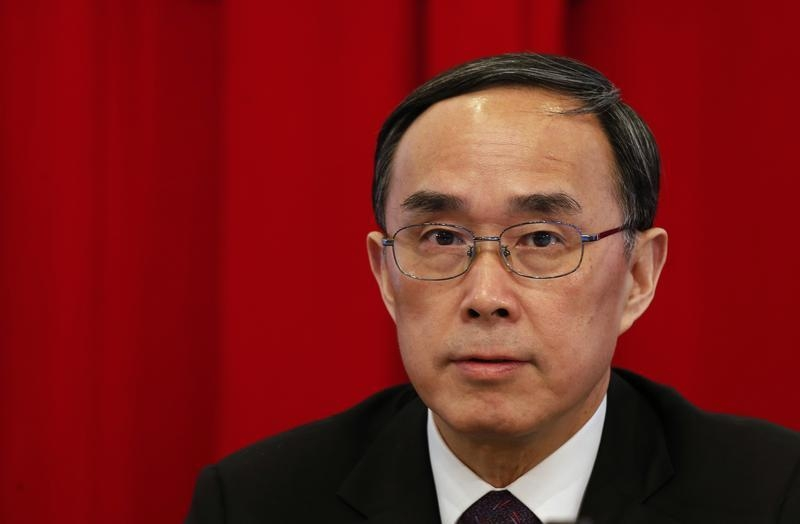 Former China Unicom chairman and current China Telecom chairman Chang Xiaobing attends a news conference in Hong Kong on Feb. 27, 2014