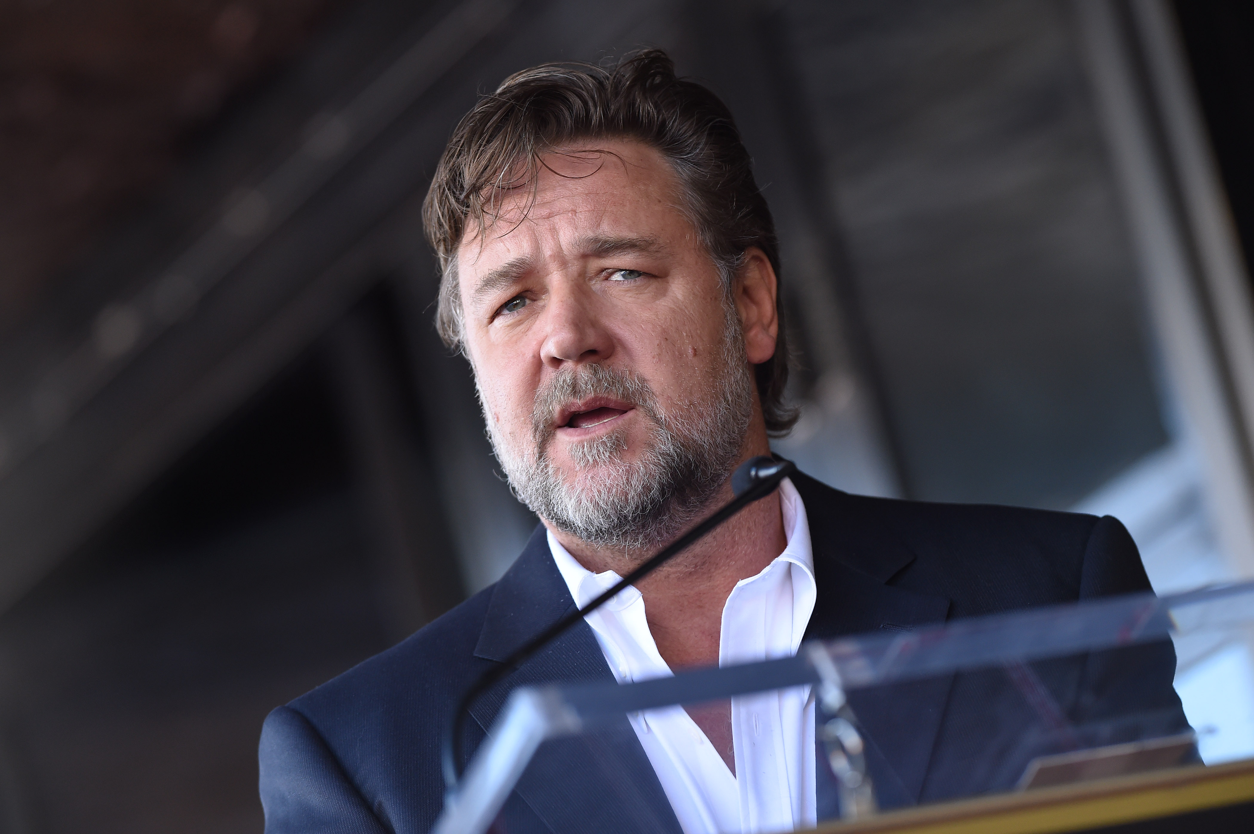 Actor Russell Crowe attends the ceremony honoring director Ridley Scott on Nov. 5, 2015 in Hollywood, California.