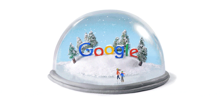 Google Doodle marking the 2015 winter solstice in the northern hemisphere
