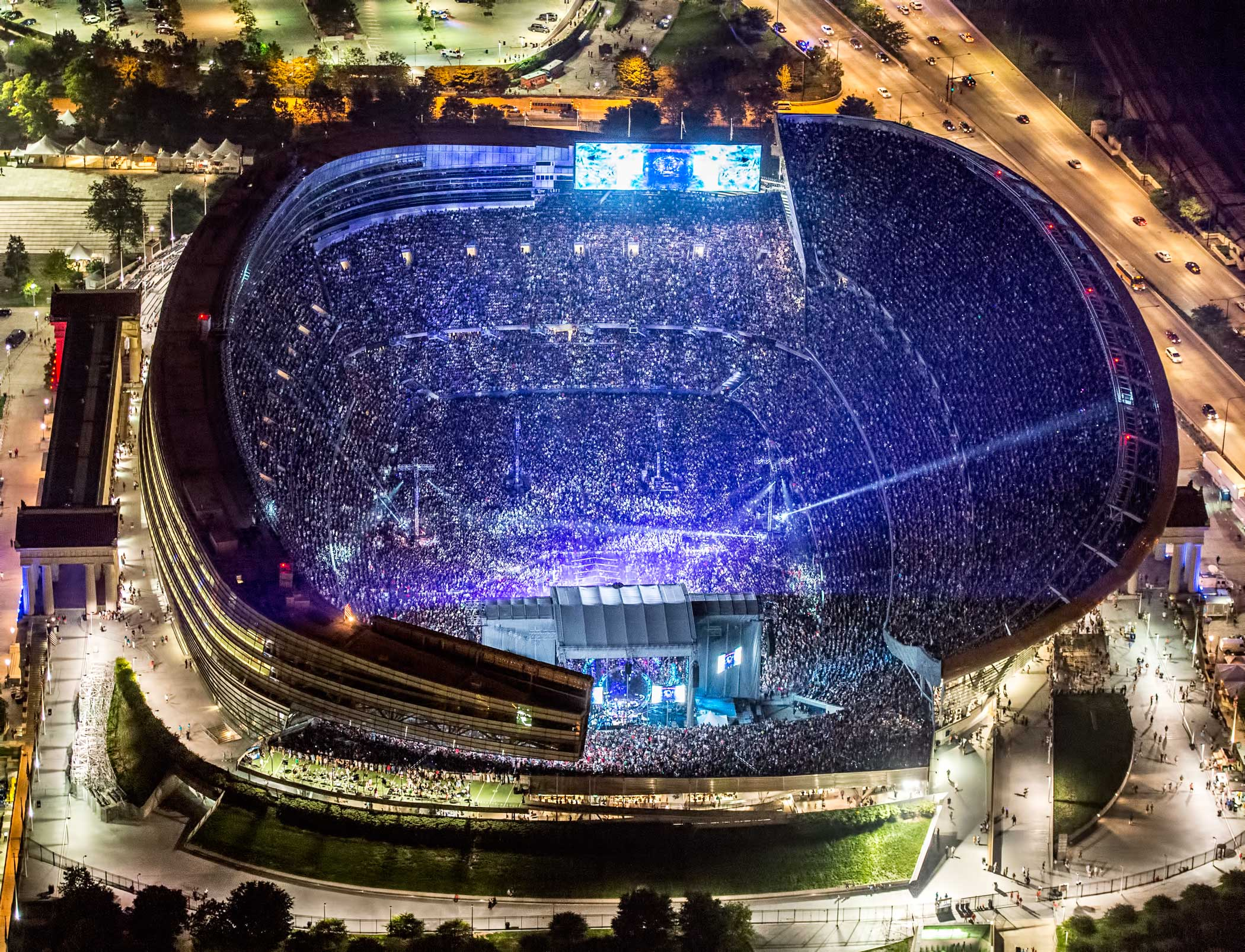 The Grateful Dead at Soldier Field during Fare Thee Well tour on July 5, 2015.