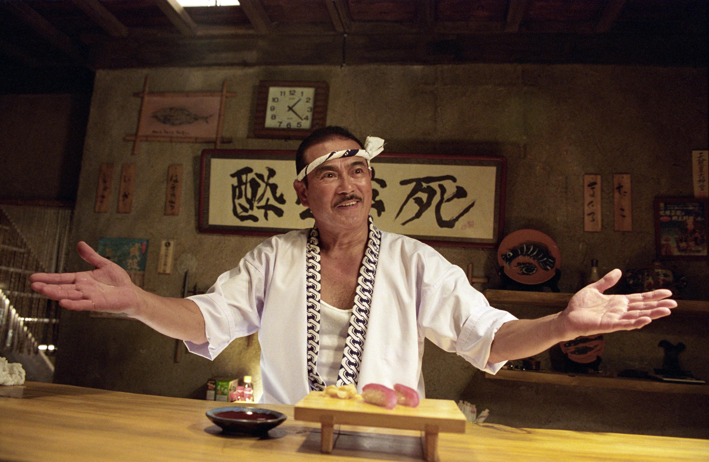 Sonny Chiba as Hattori Hanzo in Kill Bill: Volume 1, 2003.
