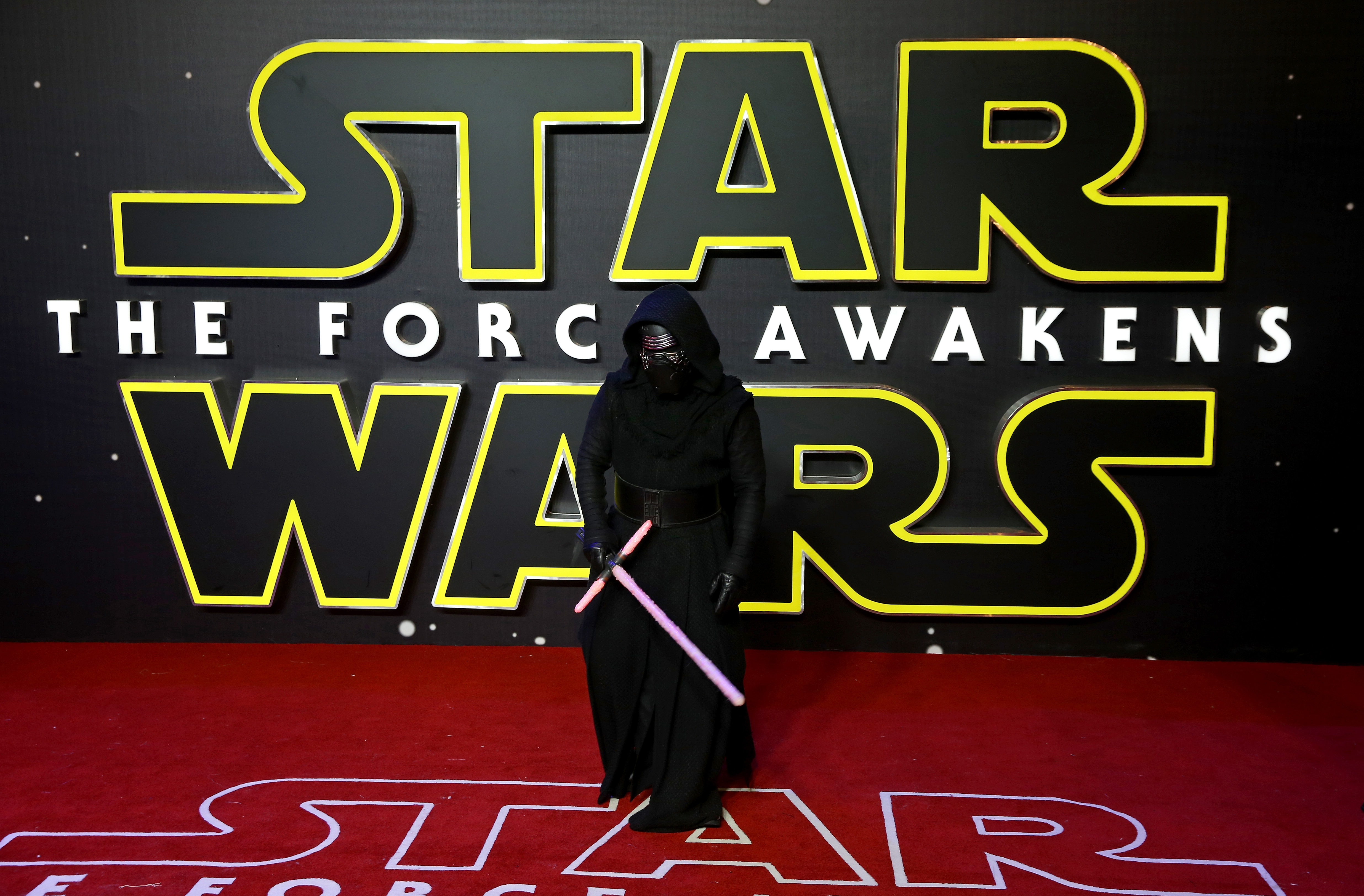 Kylo Ren attends the European Premiere of  Star Wars: The Force Awakens  at Leicester Square on December 16, 2015 in London, England.