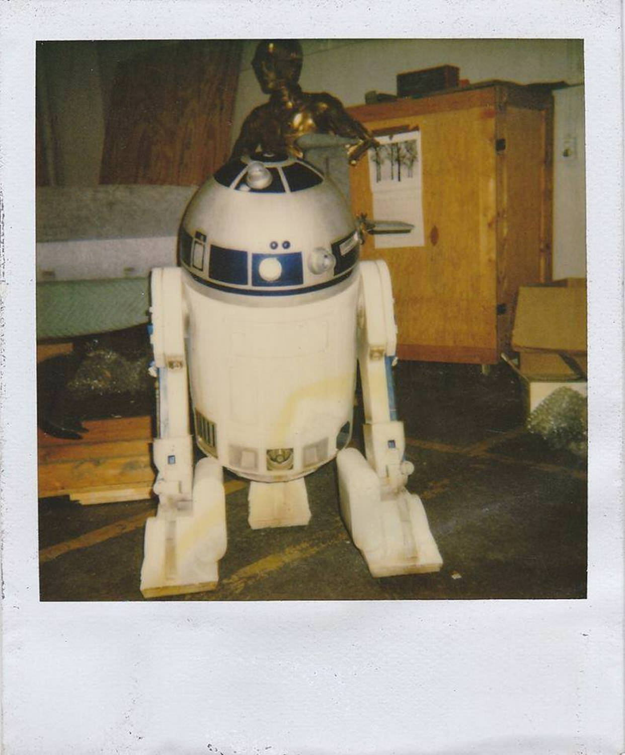 R2-D2 and C-3PO in storage