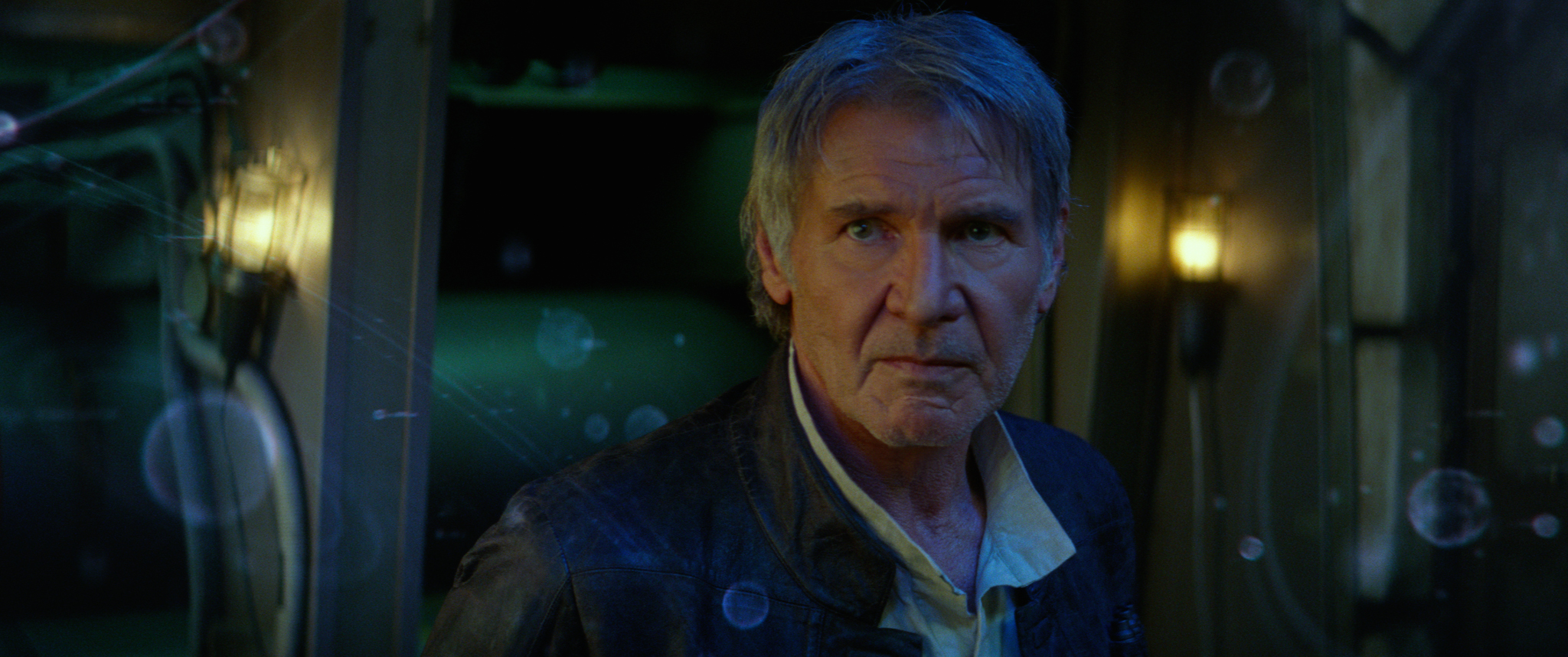 Harrison Ford as Han Solo in  Star Wars: The Force Awakens.