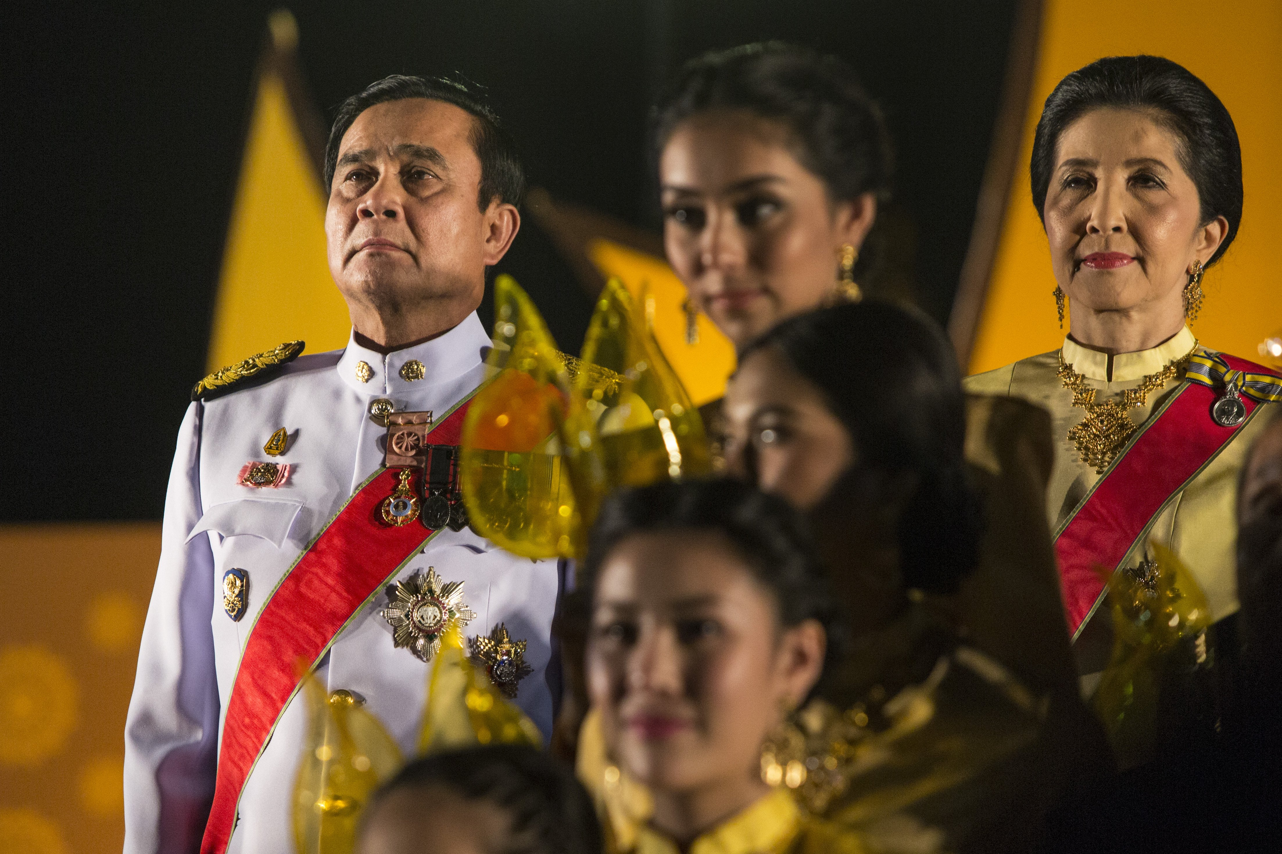 Thai Prime Minister Prayut Chan-o-cha during celebrations for Thailand's King Bhumibol Adulyadej on his 88th birthday in Bangkok, on Dec. 5, 2015.