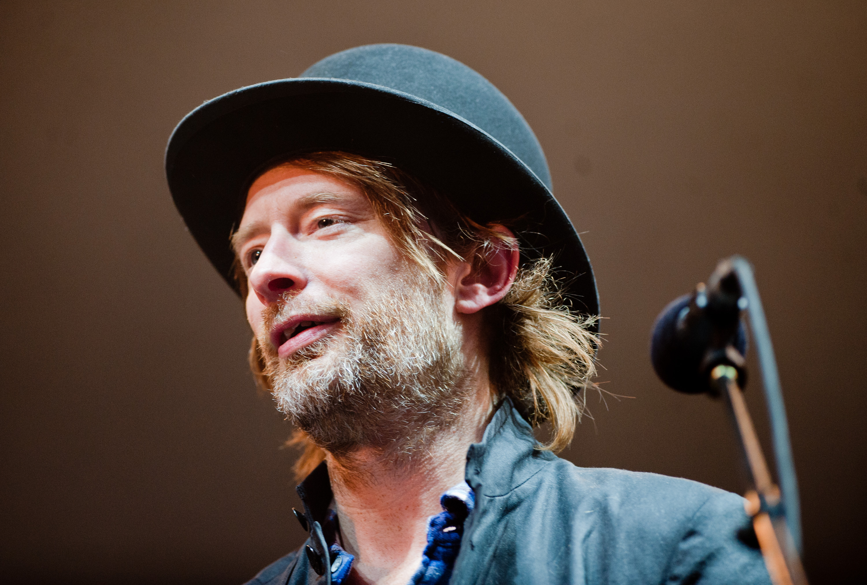 Thom Yorke performs on Day 2 of The Big Chill Festival in Ledbury, England on Aug. 6, 2010.
