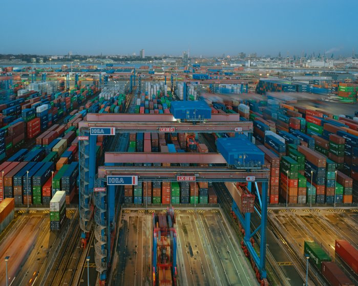 """The HHLA Container Terminal Burchardkai in Hamburg, Germany. The port is called Germany's """"Gateway to the World."""""""