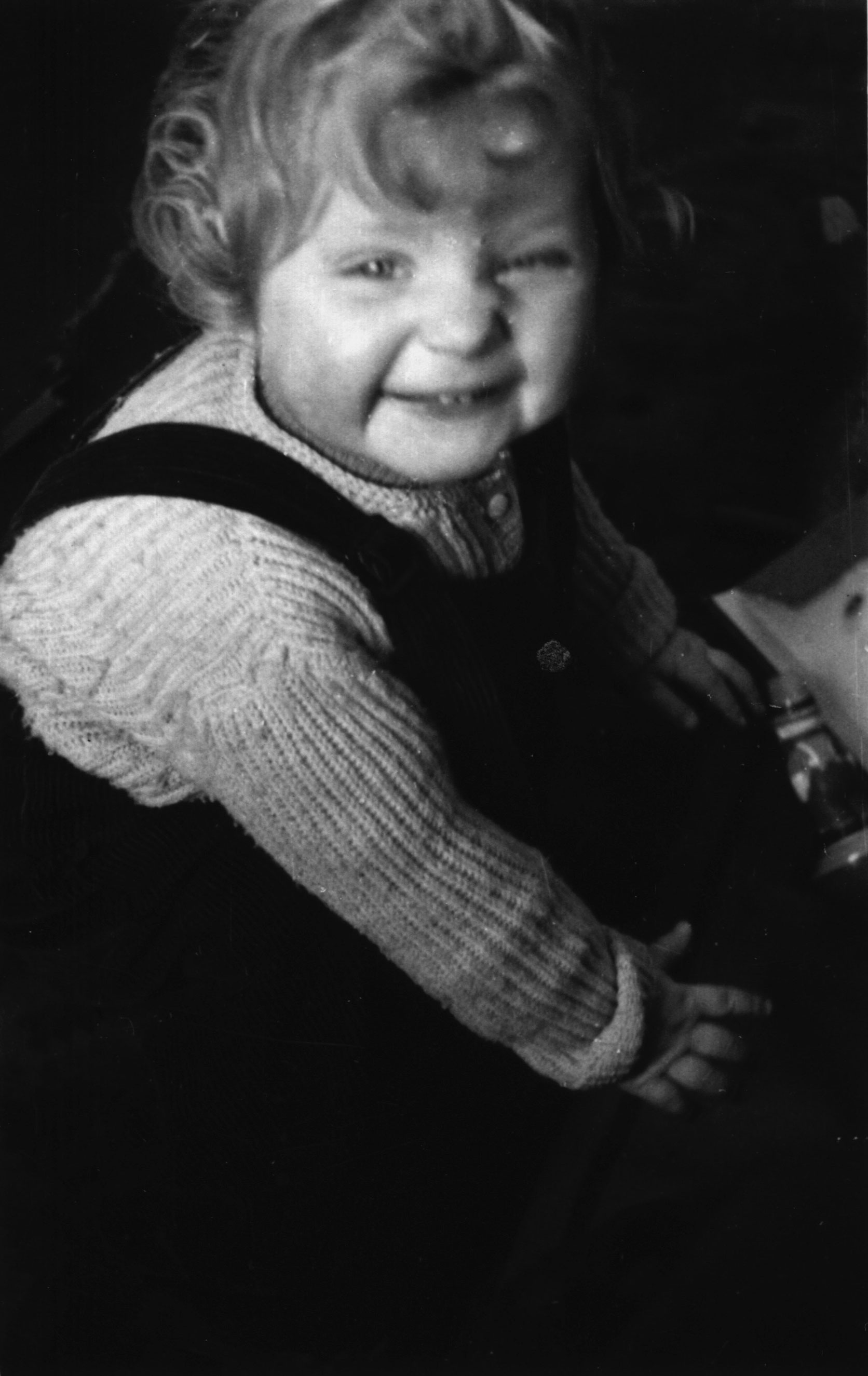 Angela Kasner, at age one and a half.