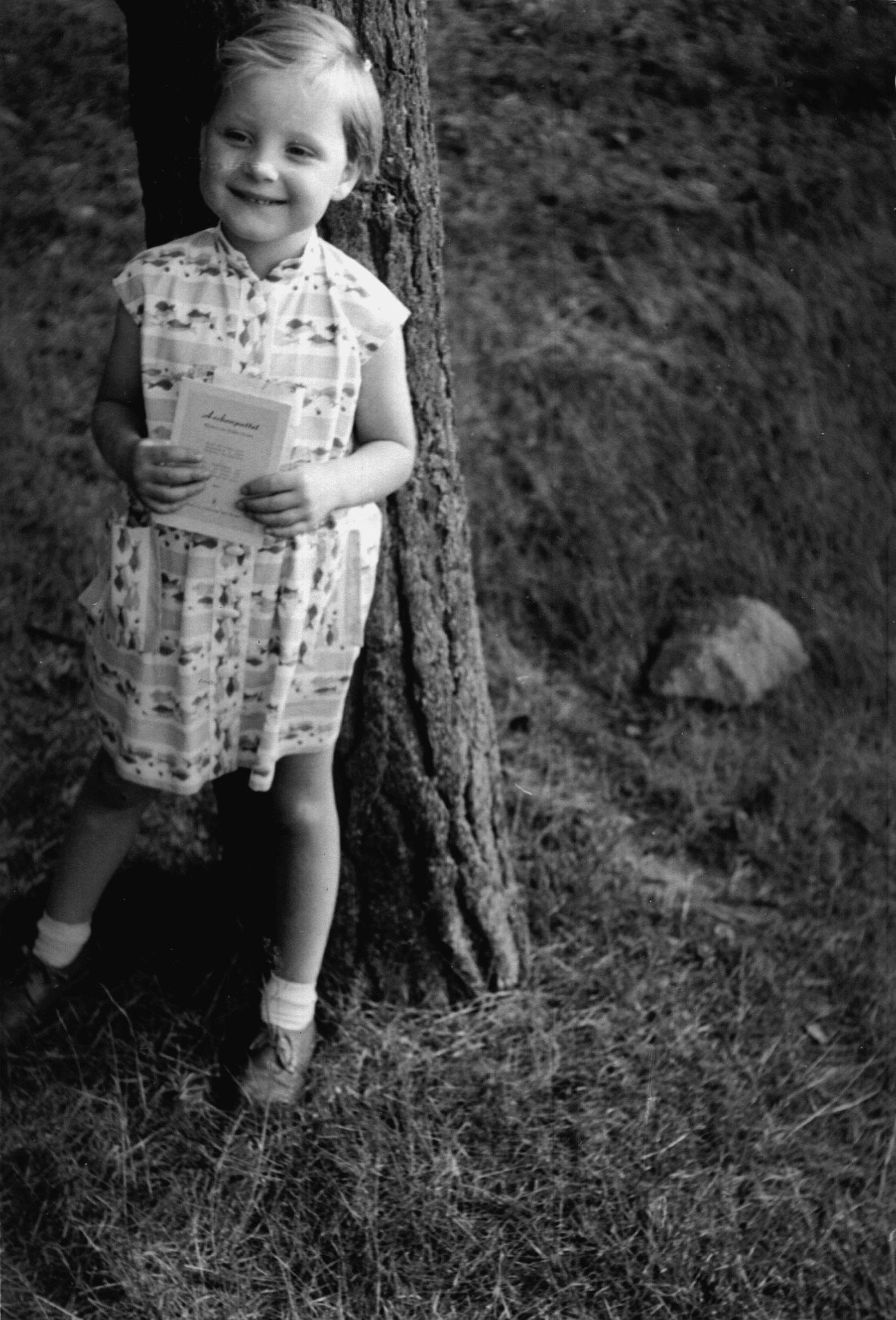 Angela Kasner at age 3.