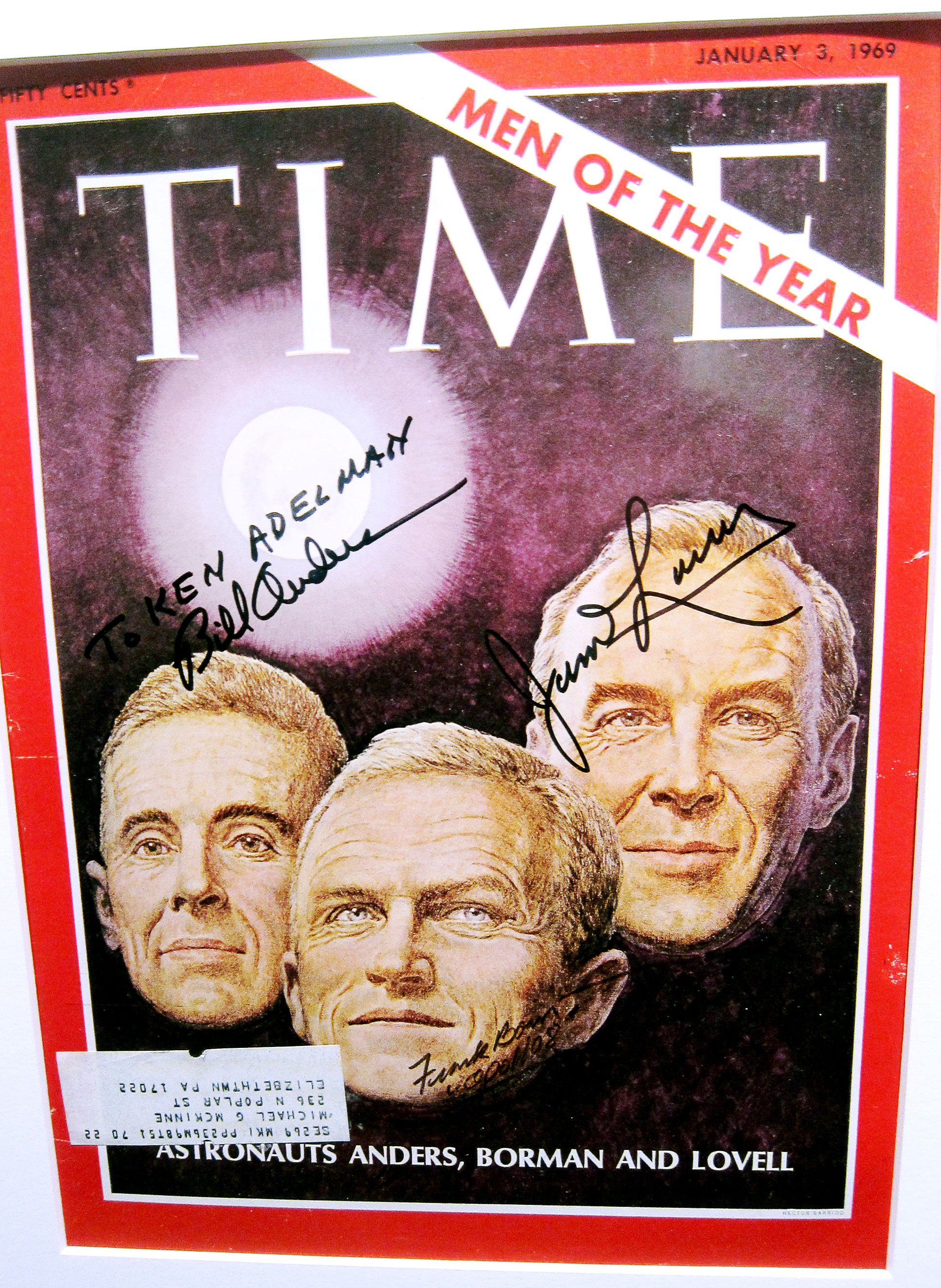 A signed copy of the 1968 TIME Men of the Year cover from Ken Adelman's collection