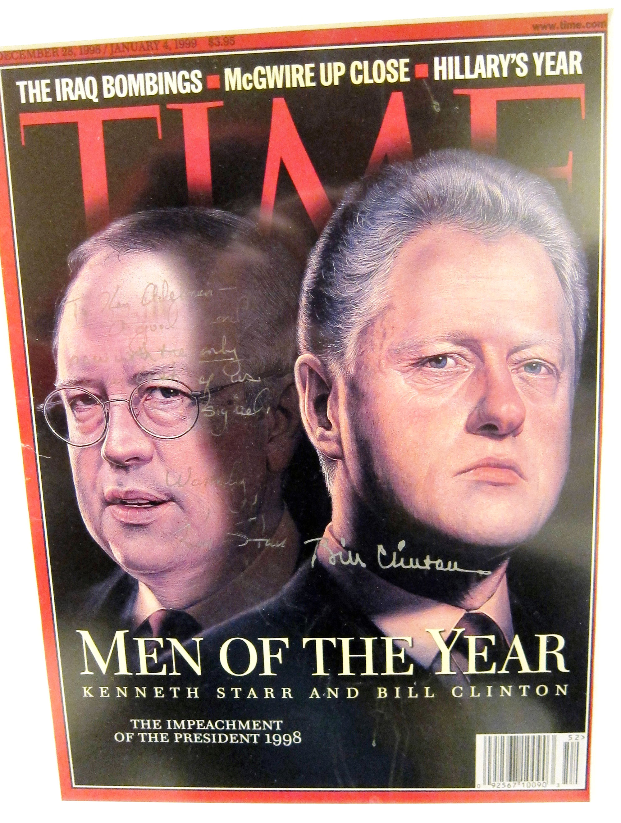 A signed copy of the 1998 TIME Men of the Year cover from Ken Adelman's collection