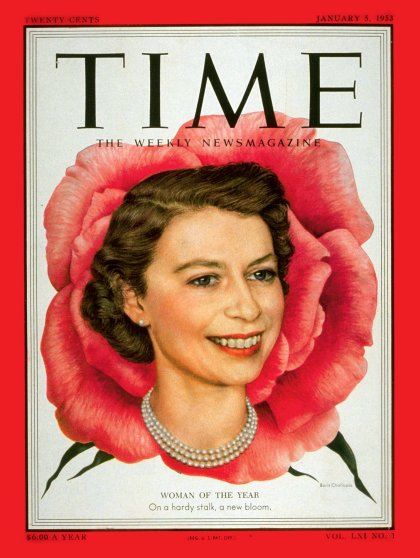 TIME person of the year 1952: Queen Elizabeth II