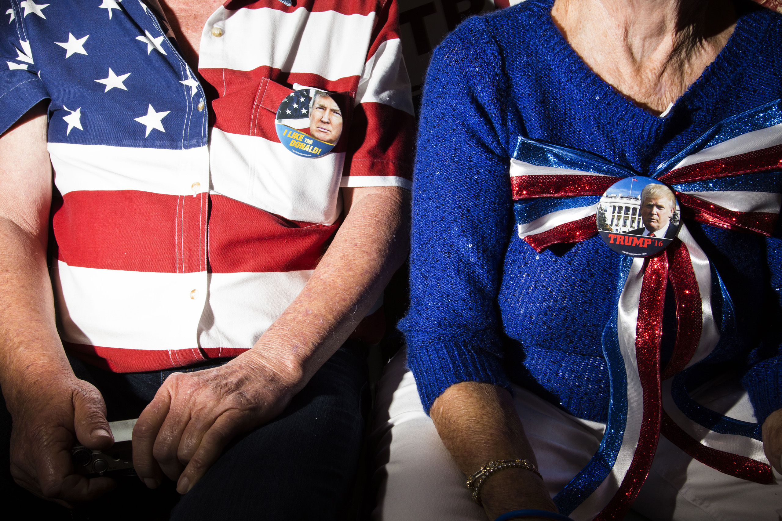 Supporters of  Republican presidential candidate Donald Trump at a rally in Sarasota, Fla. Nov. 28, 2015.