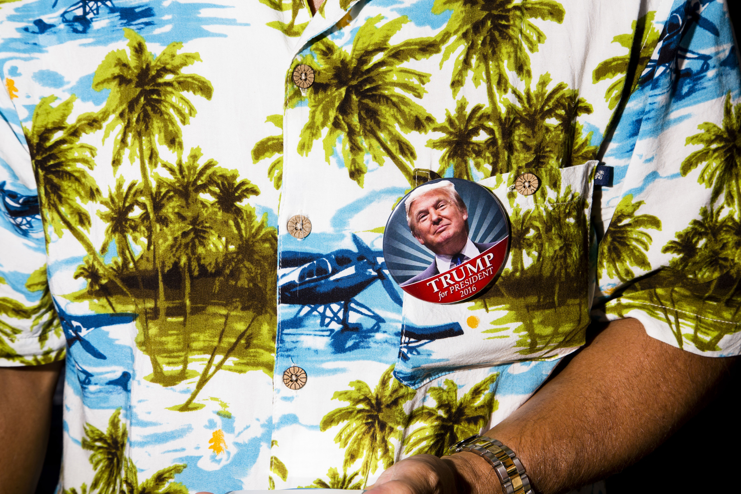 Presidential candidate Donald Trump campaigns at the Robarts Arena in Sarasota, Fla. Nov. 28, 2015.